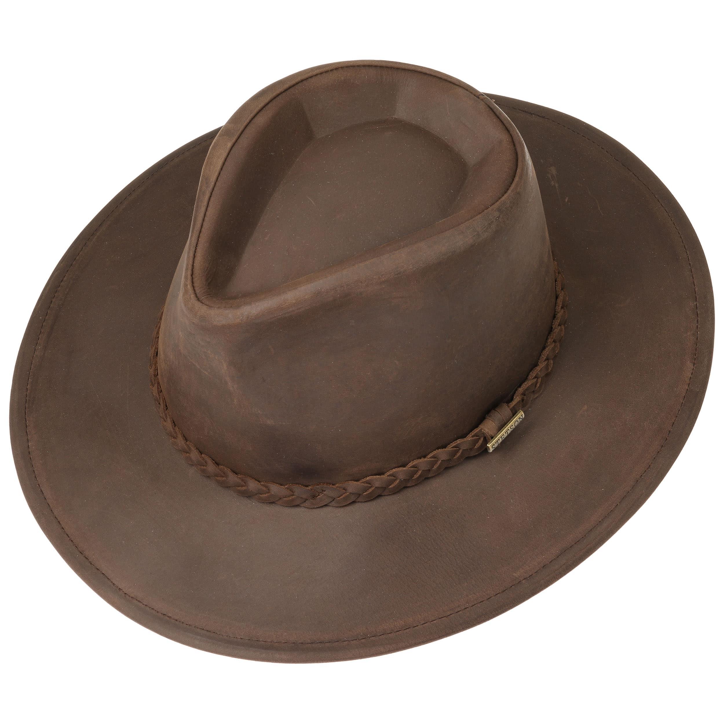 a72f091df16 Buffalo Leather Western Hat by Stetson - dark brown 1 ...