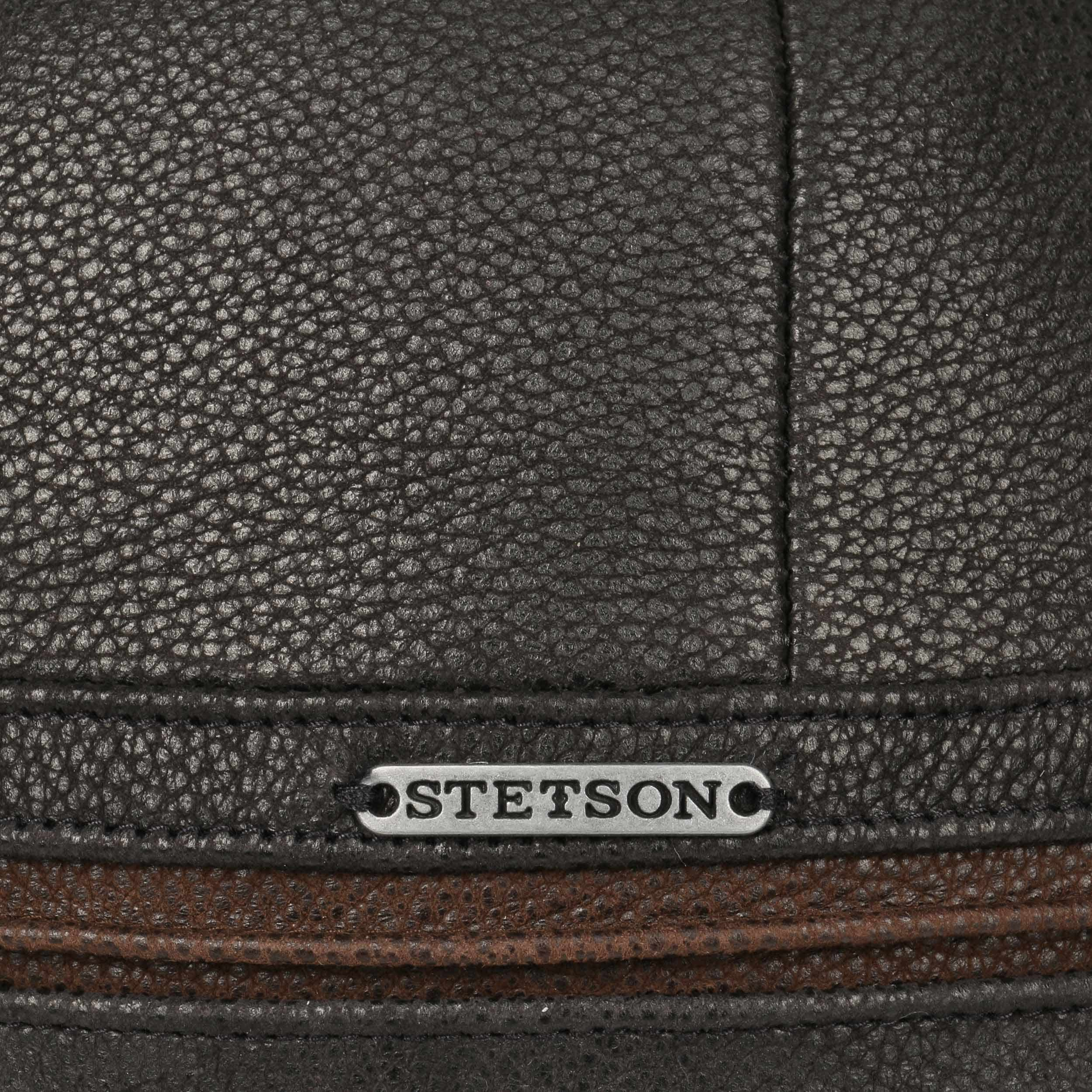 41437a5ad ... Byers Leather Cap by Stetson - black 4 ...