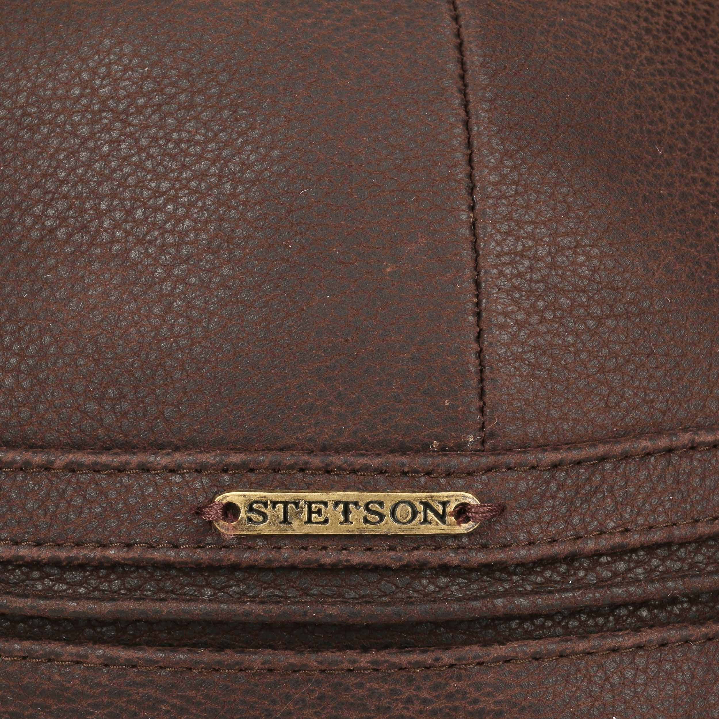 b87b9b326 ... Byers Leather Cap by Stetson - brown 4 ...