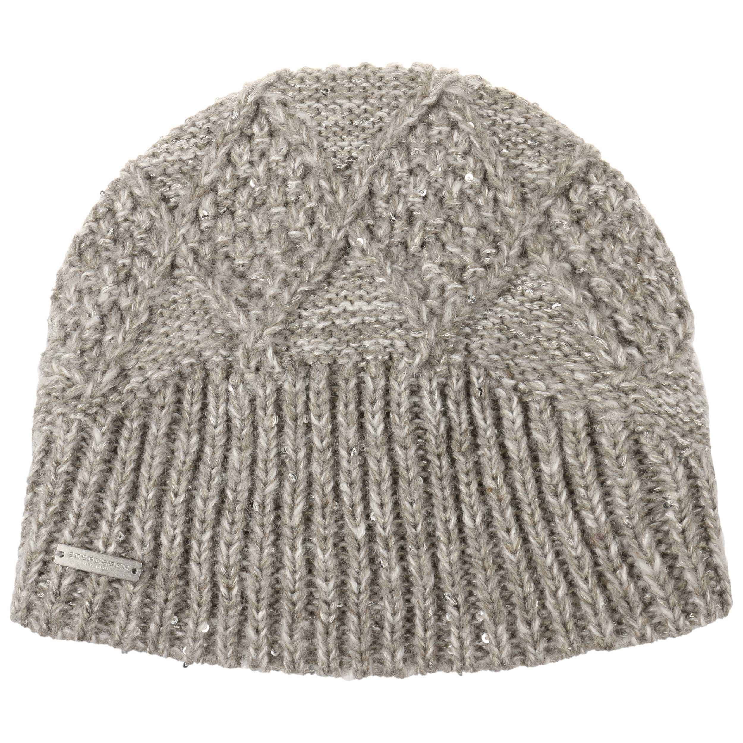 ... Cable Knit Pattern Beanie Hat by Seeberger - oatmeal 1 ... cbe44106507