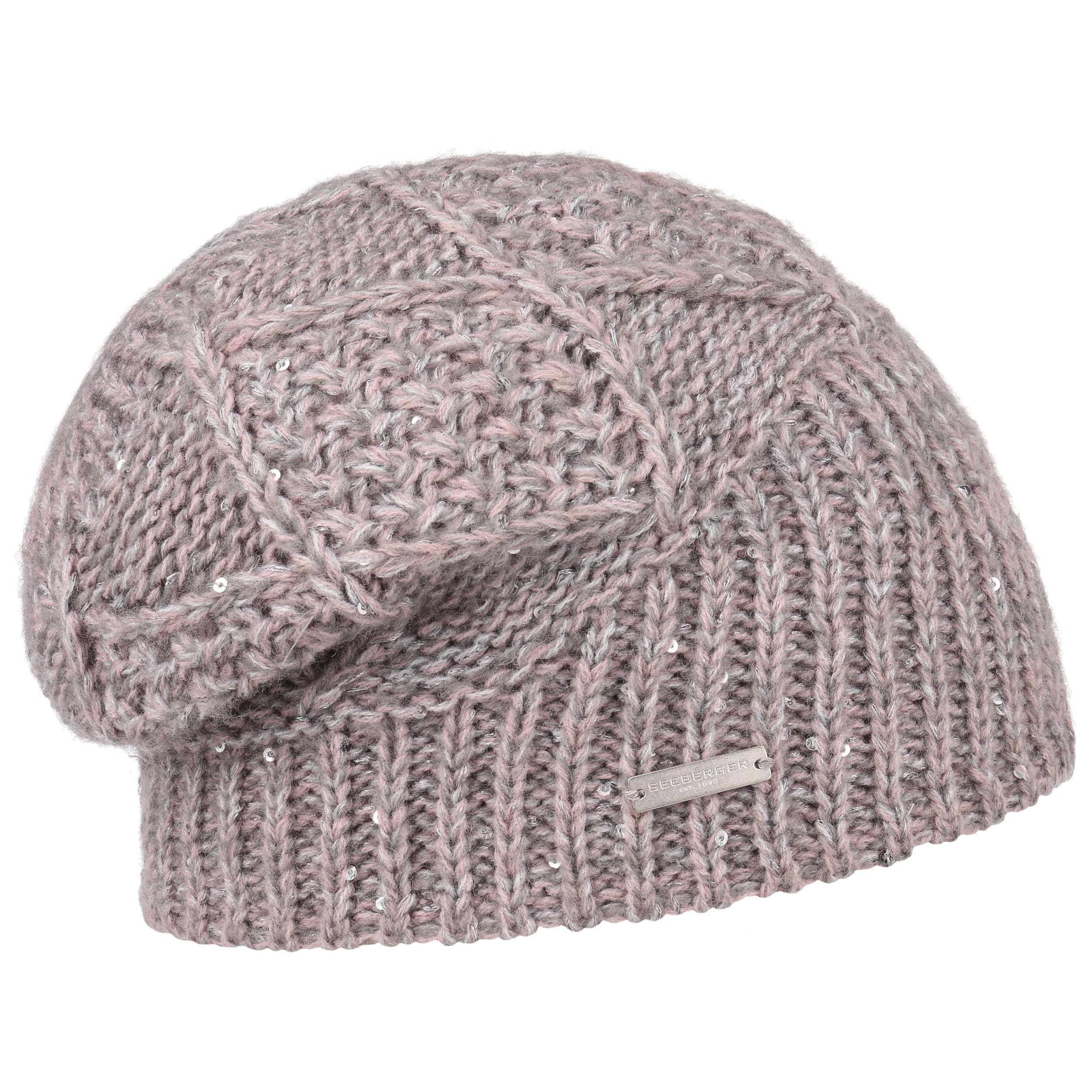 3a09a8974de ... Cable Knit Pattern Beanie Hat by Seeberger - rose 5 ...