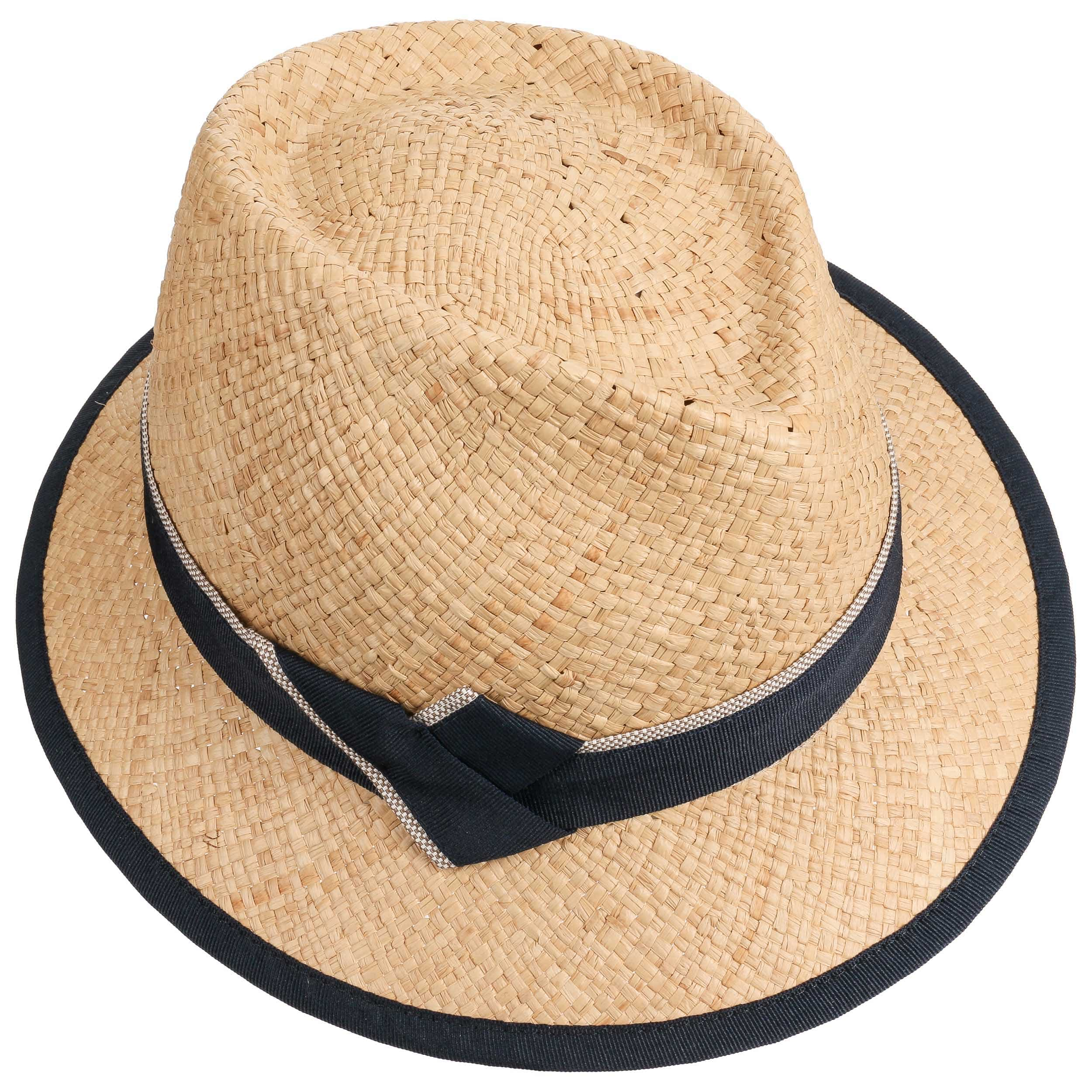 Caleja Women´s Raffia Straw Hat by bedacht - nature-blue 1 ... 22262ffcc06e