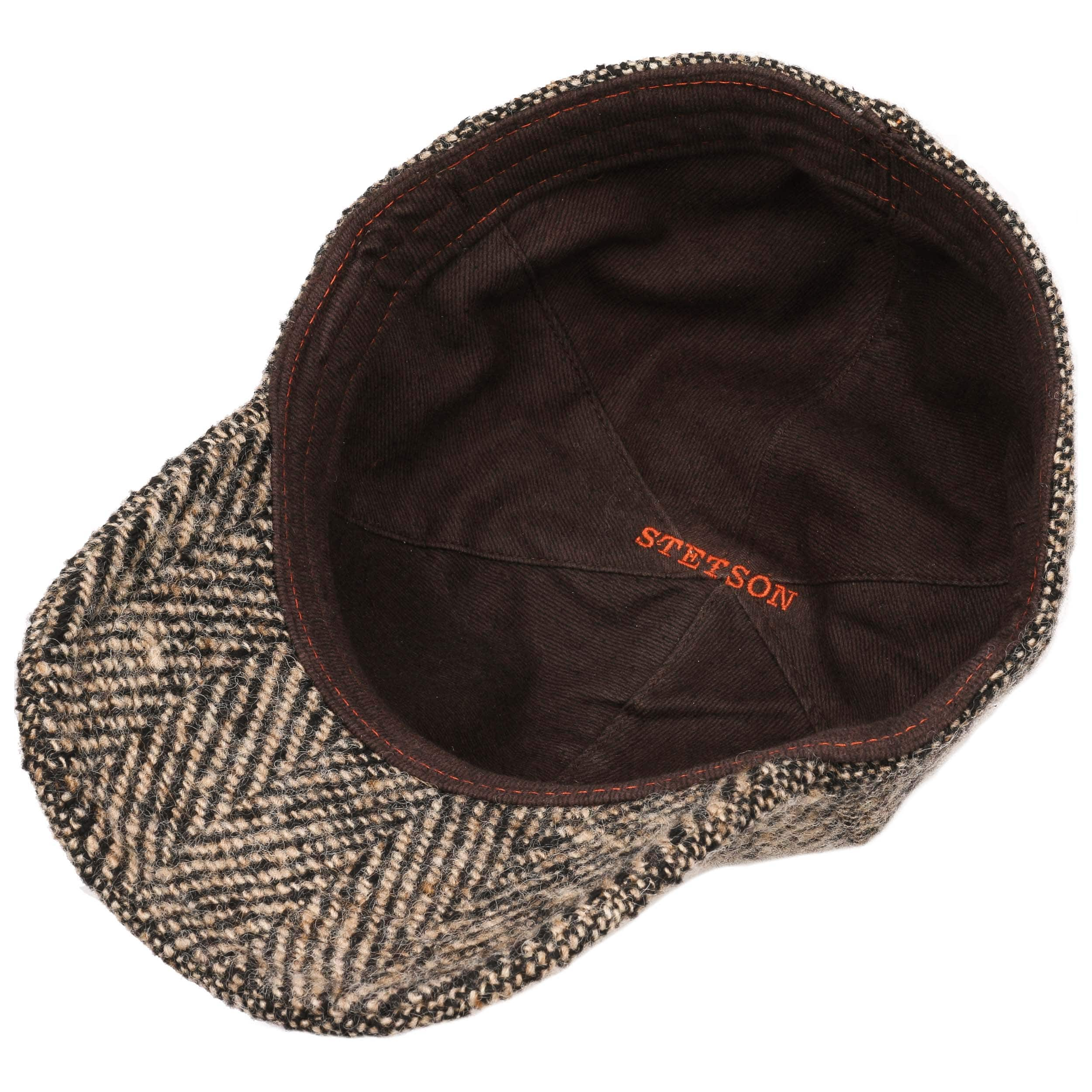 ab090e68981 ... Campbell Virgin Wool Cap by Stetson - brown 2 ...