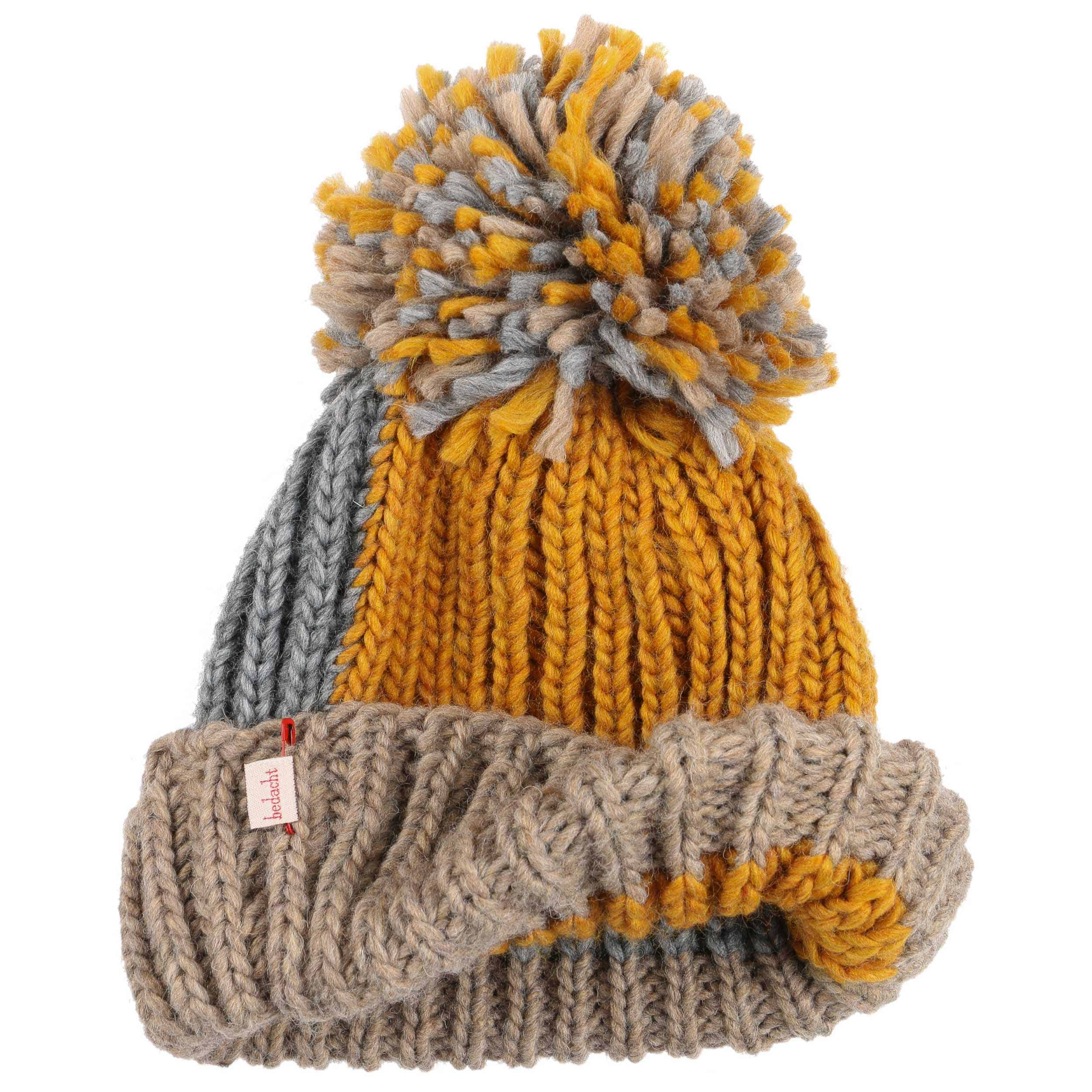 ... Caos Pompom Hat by bedacht - mustard 1 ... 1f7e4d30723