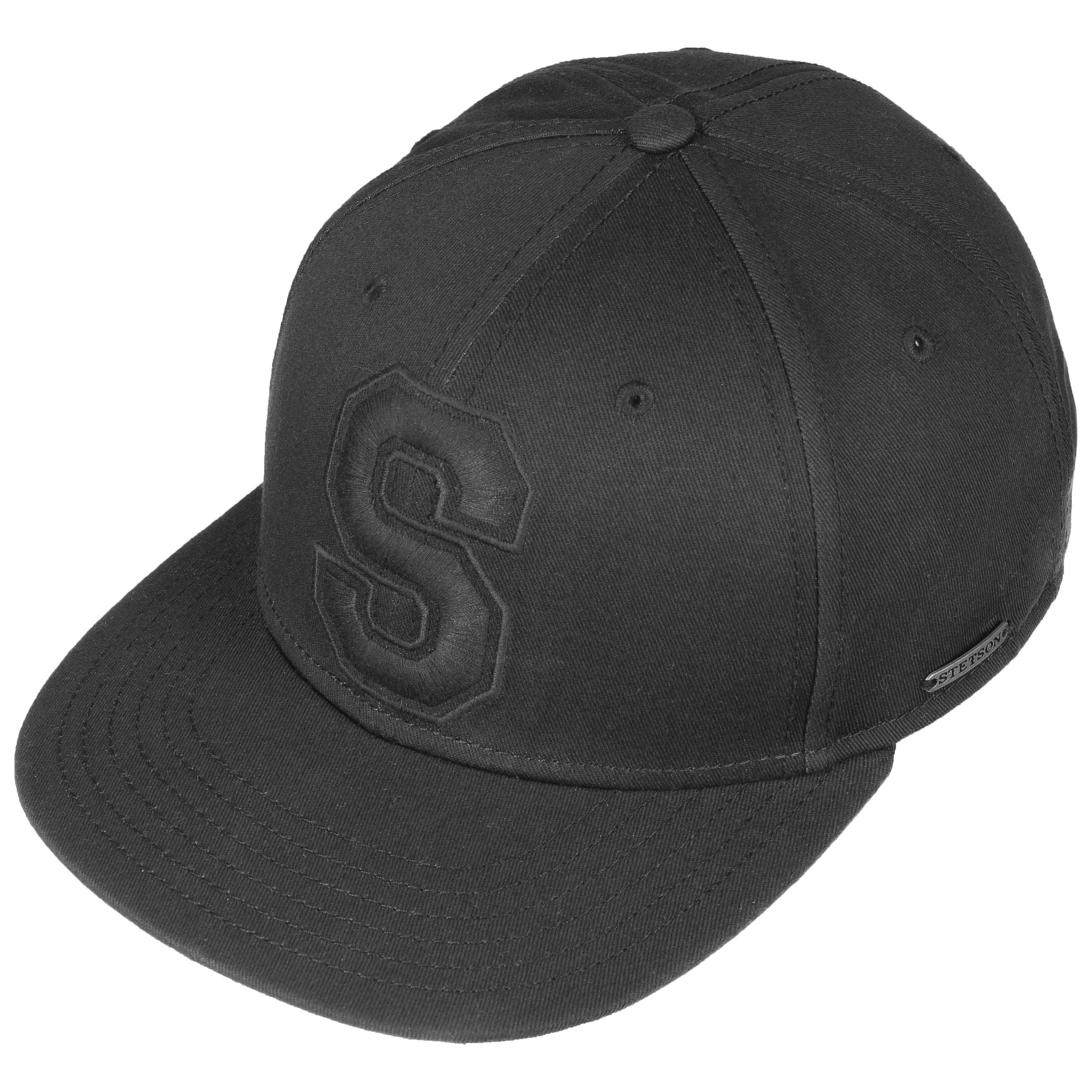 15b8430fc119 ... Capital S Cotton Baseball Cap by Stetson - black 1 ...