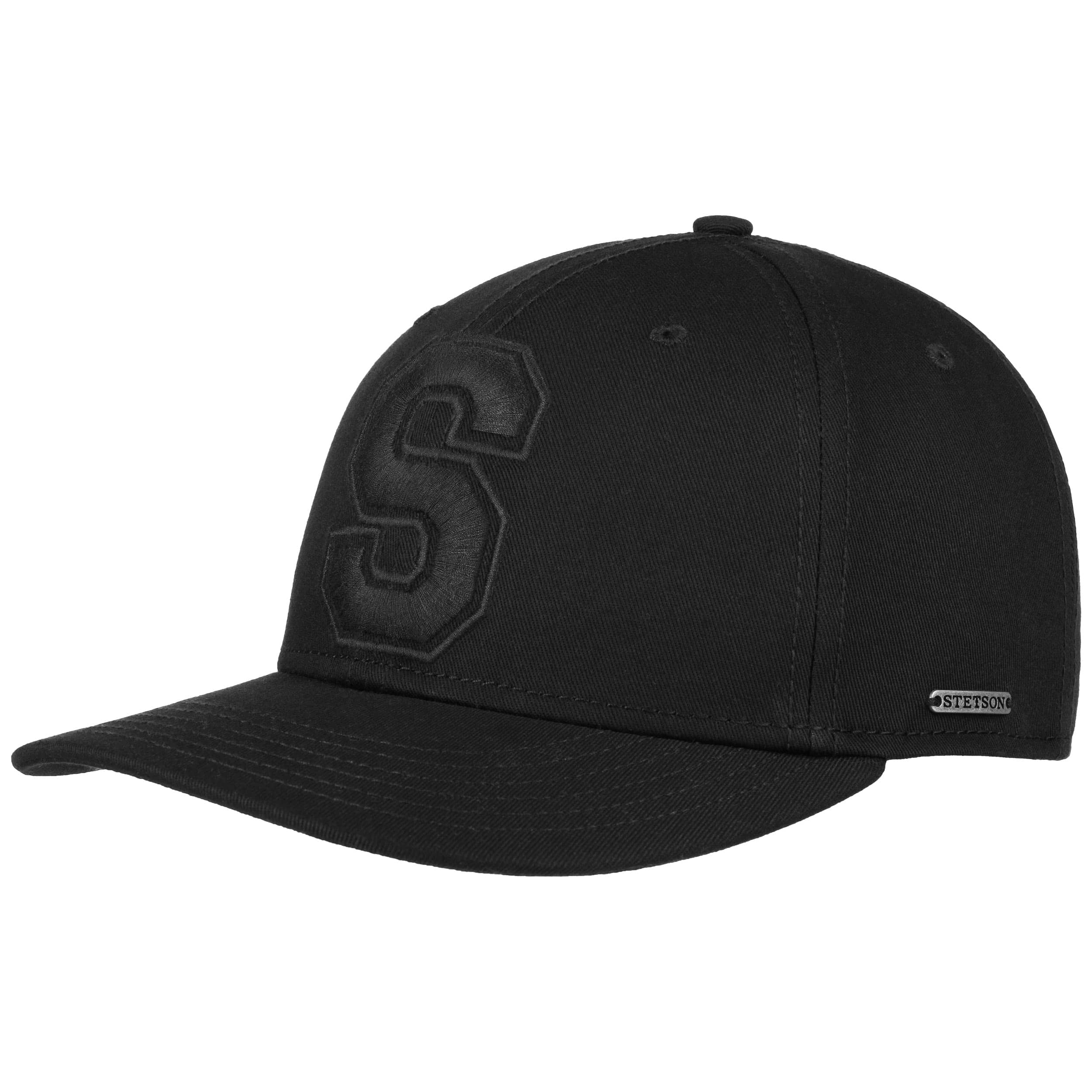 a06be78fae43 ... Capital S Cotton Baseball Cap by Stetson - black 5