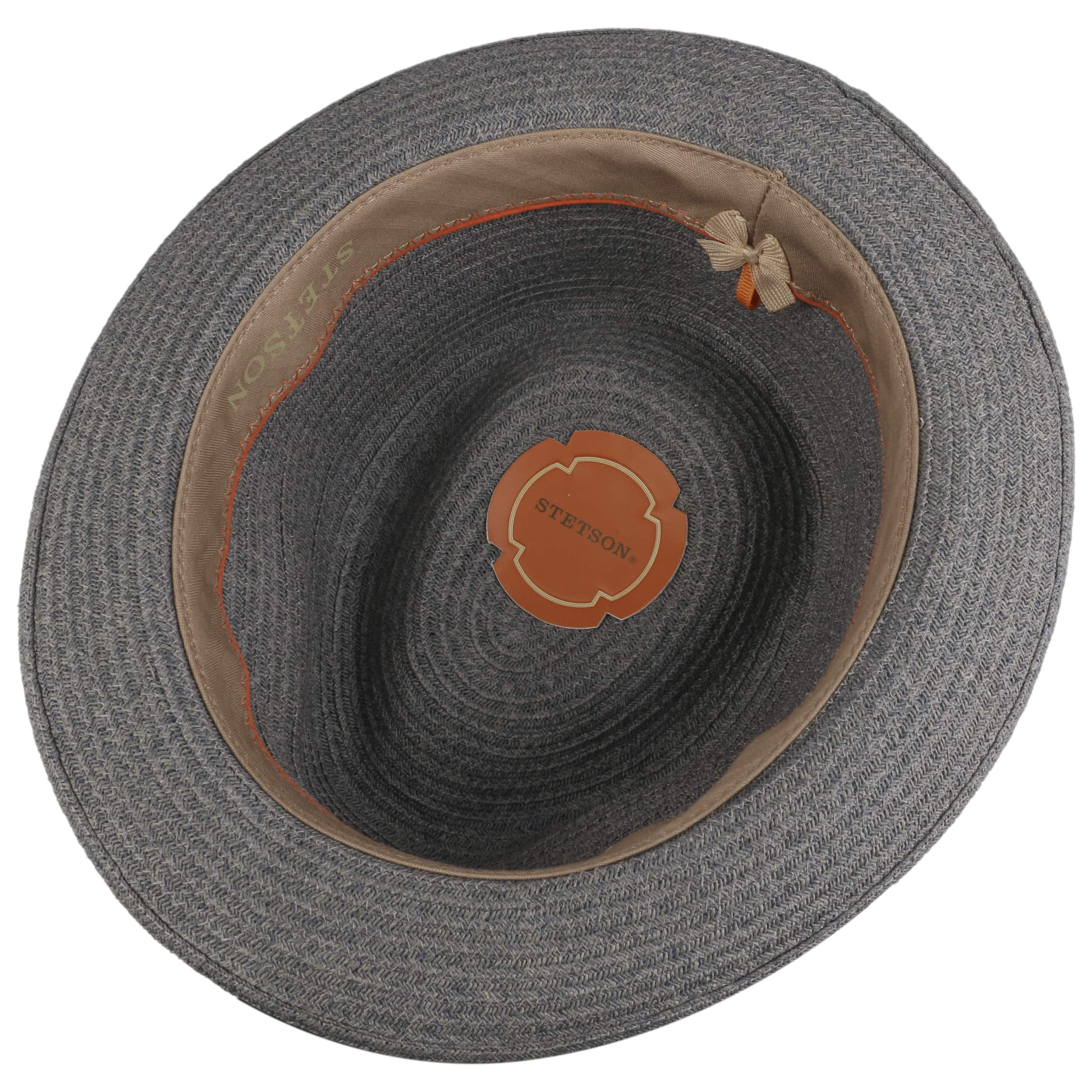 314544c1cf ... Carson Fedora Toyo Straw Hat by Stetson - grey-blue 2 ...