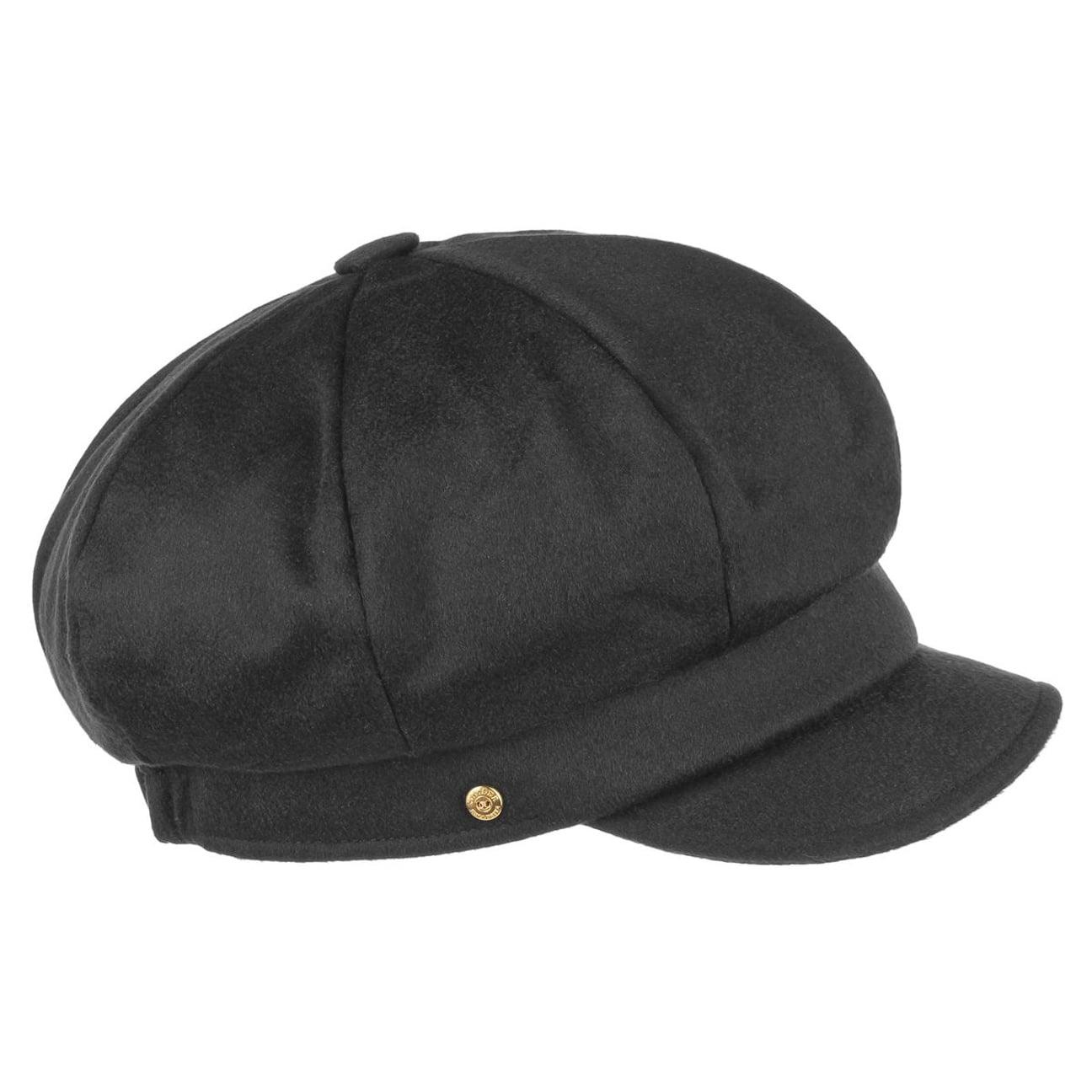 02a8183608b05 ... Cashmere Newsboy Cap by Mayser - black 1