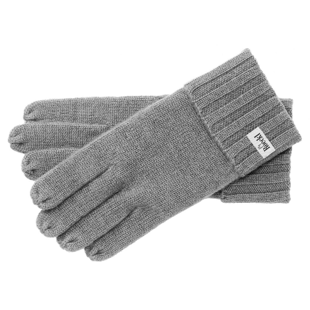 f6b049b8ccfdac Cashmere Rib Gloves by Roeckl - grey 1 ...