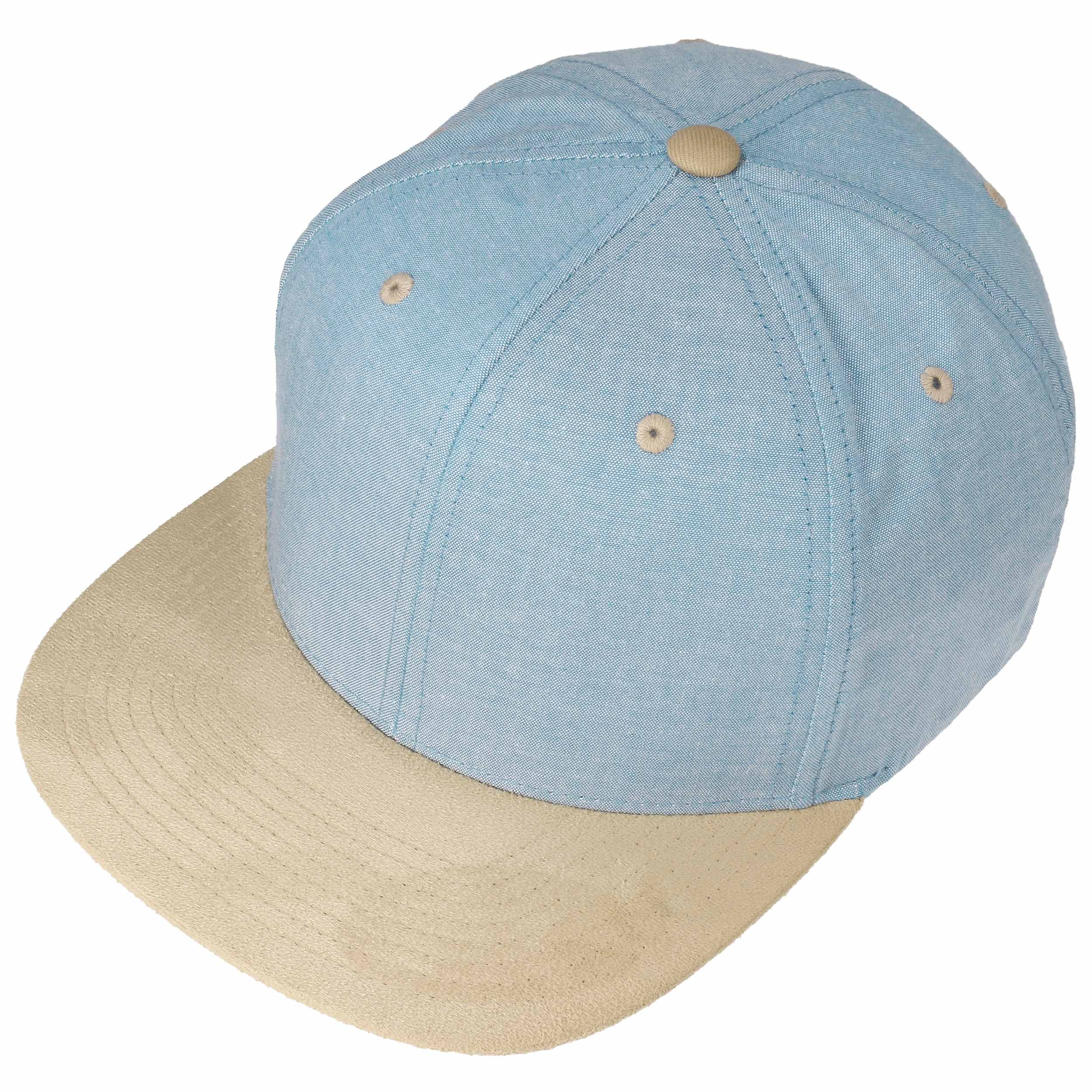 ... Chambray Suede Snapback Cap - light blue 1 ... 4b66288ca31