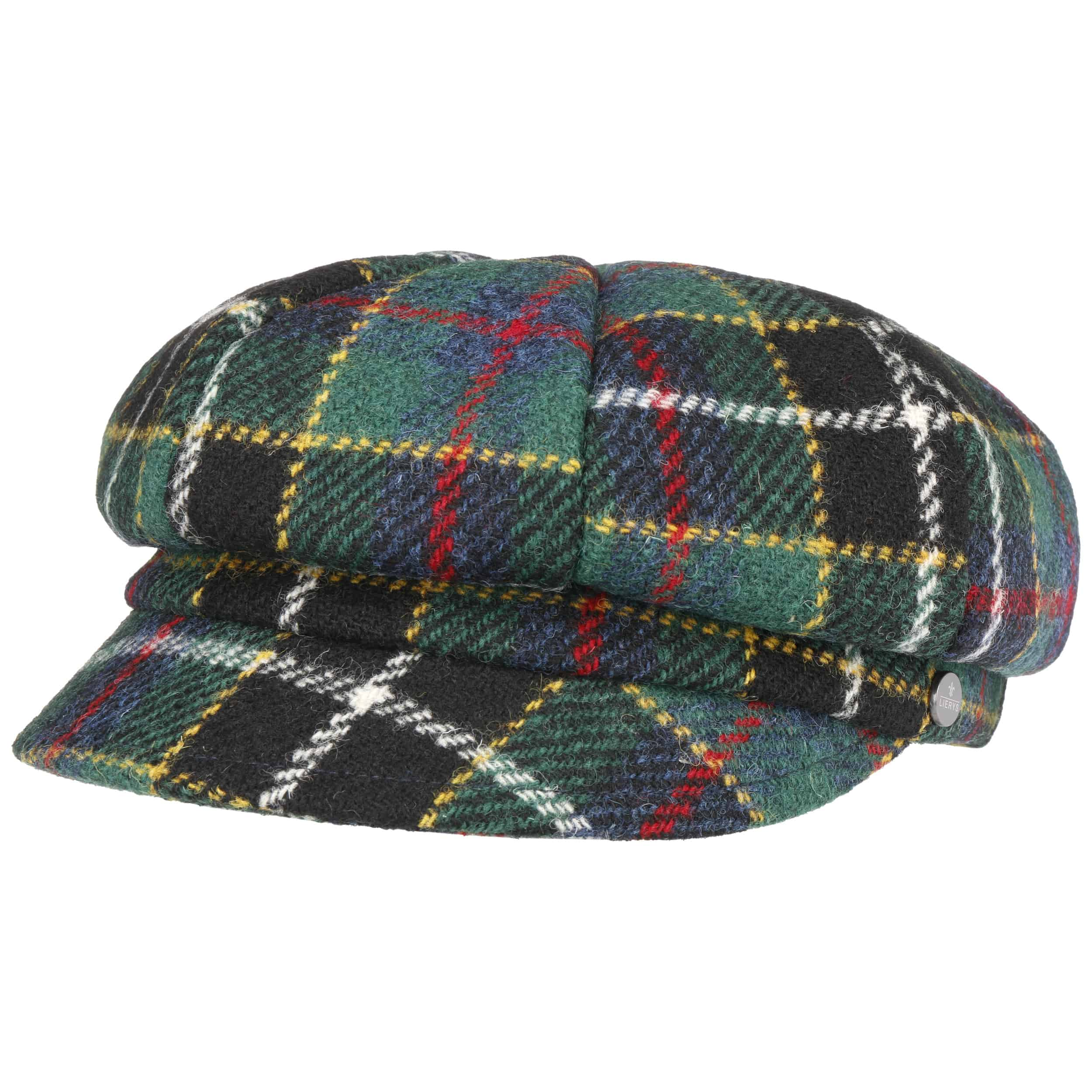 Check Harris Tweed Newsboy Cap by Lierys