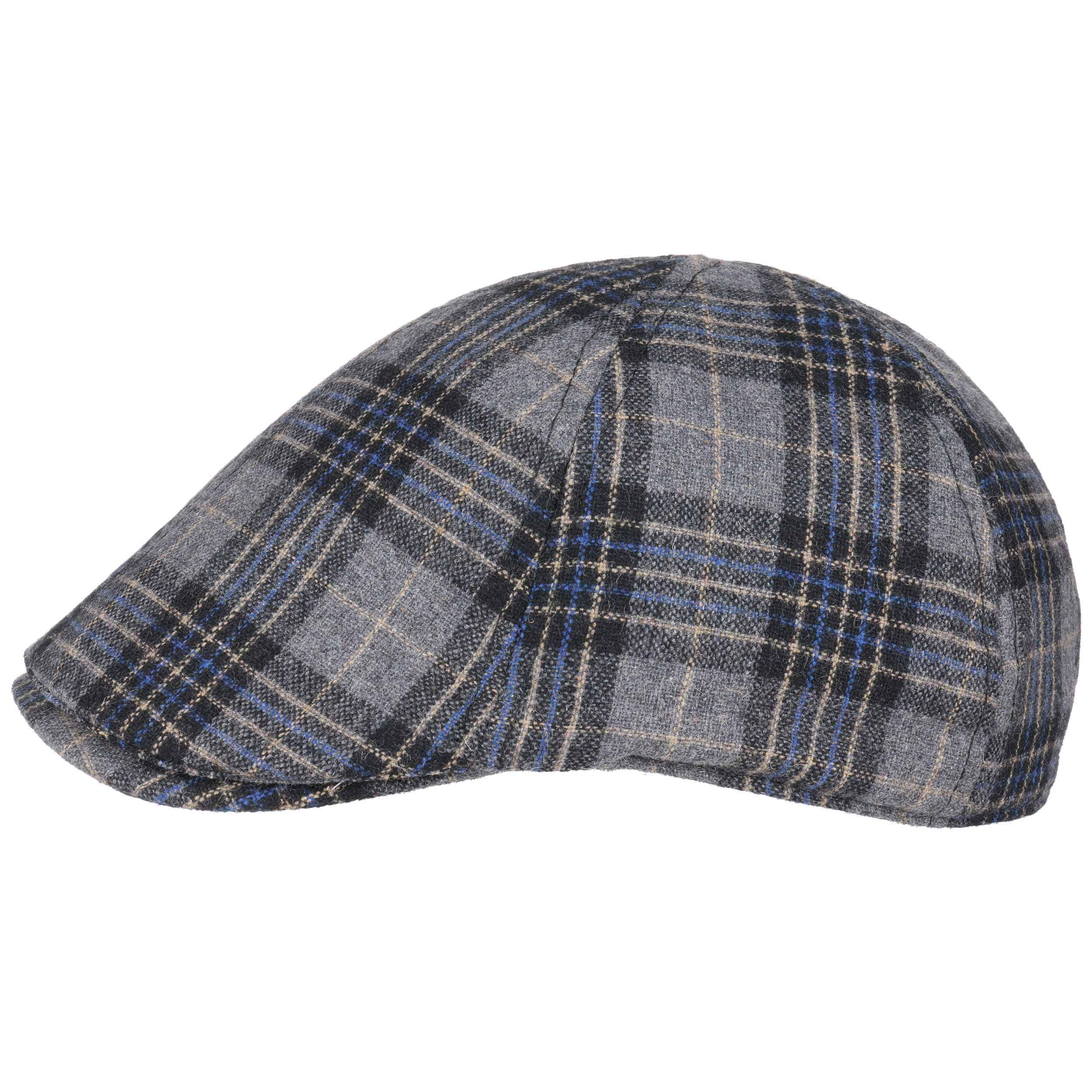 ... Checked 6 Panel Flat Cap by Lipodo - grey 5 ... 3bc42537d03