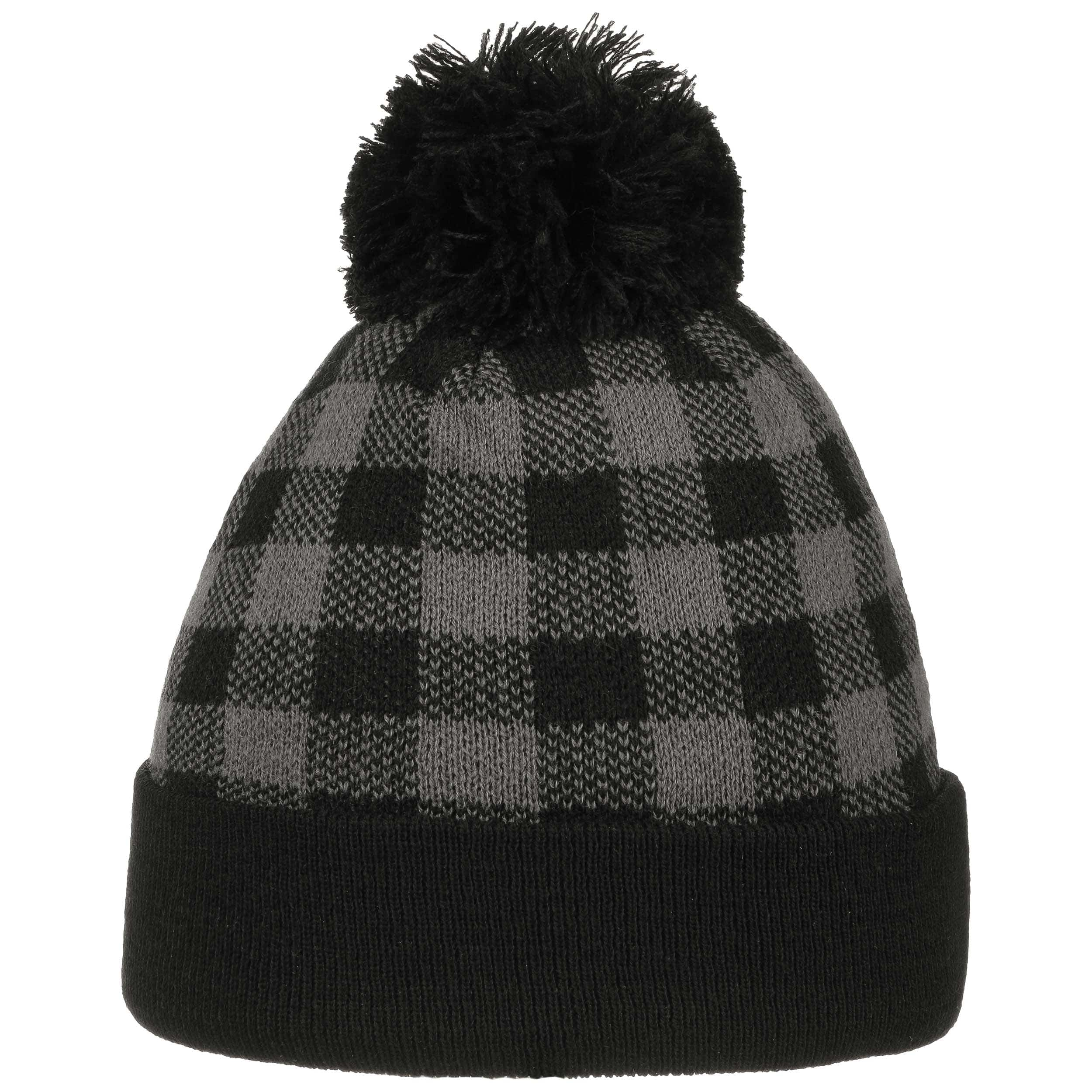 bc9a6cabaa0 ... white 2 · Checked Beanie Pompom Hat - grey 3 ...