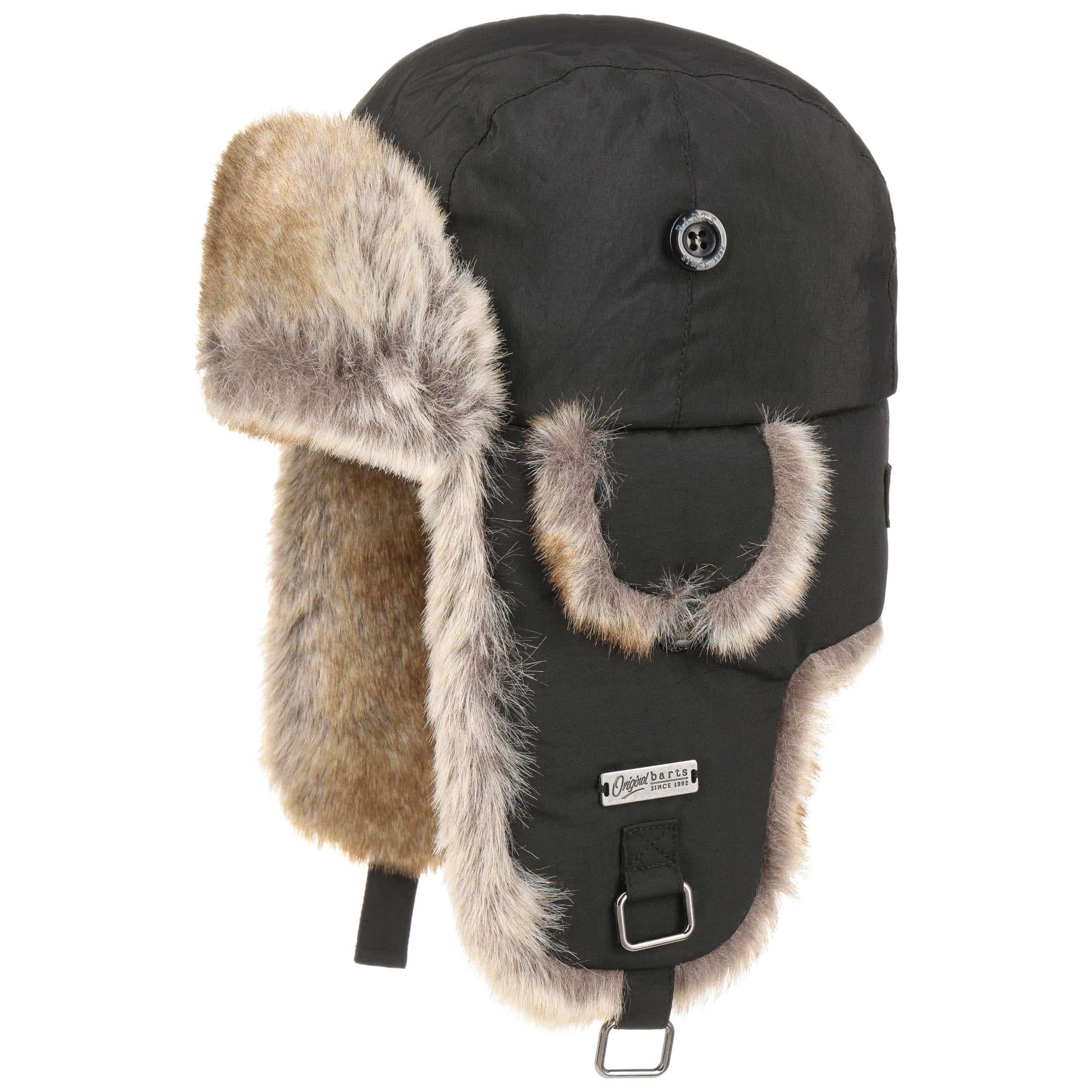 ... Checked Kamikaze Kids Aviator Hat by Barts - black 9 85cd829893f8