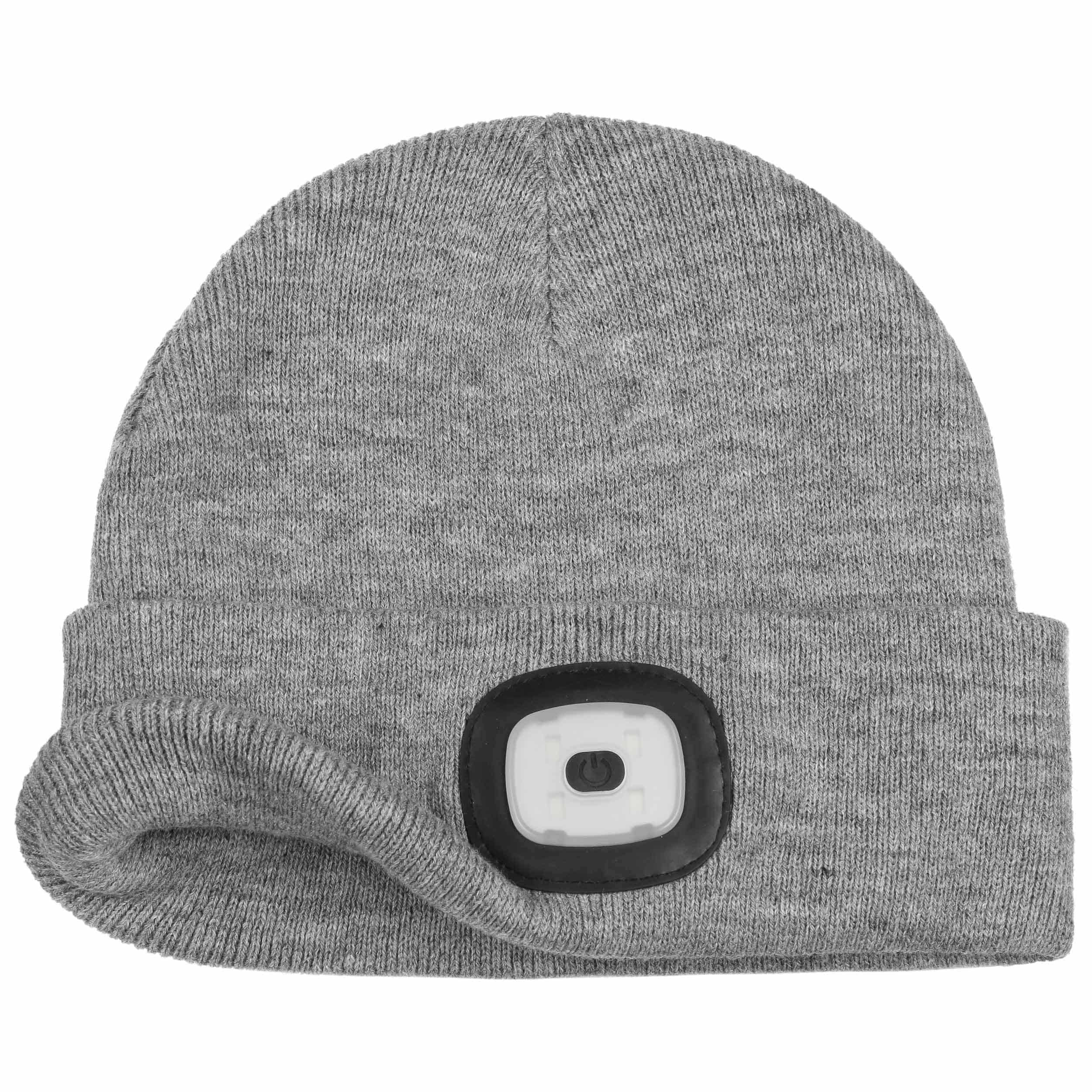 Chilllight Cuffed Beanie with LED by Chillouts - grey 1 ... d0734dade56a