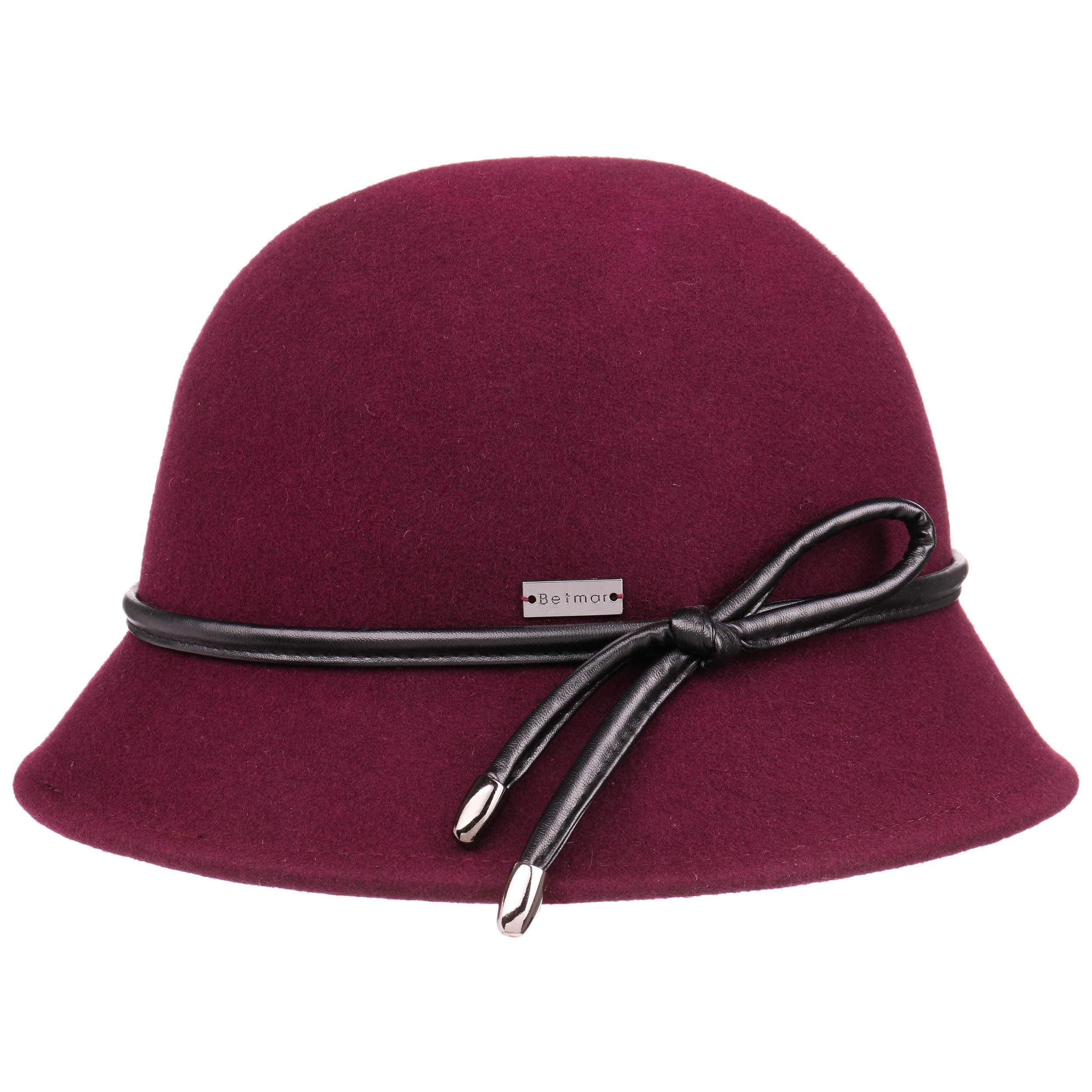 ... Christina Wool Felt Cloche Hat by Betmar - bordeaux 4 ... 975aa92b8bd