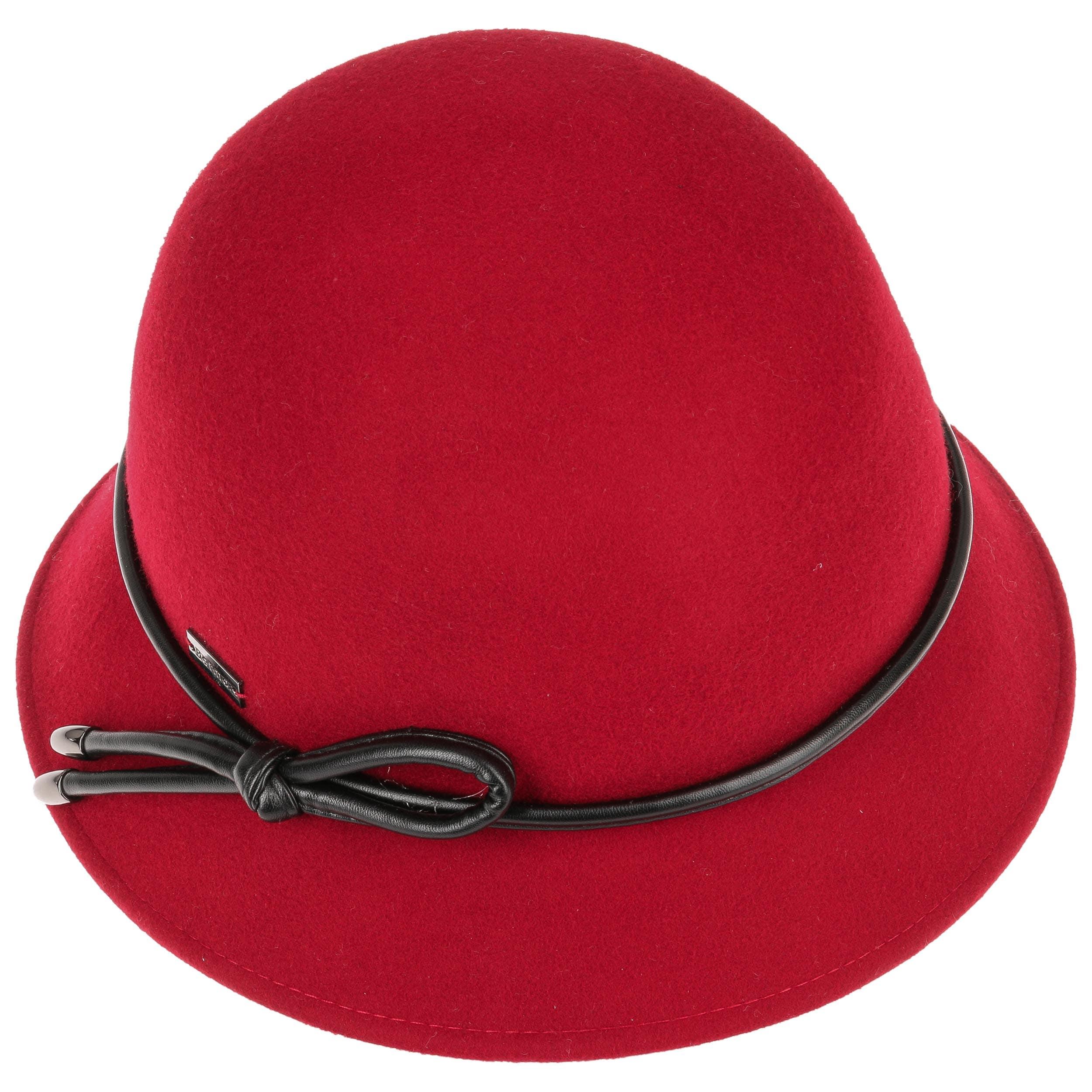 ... Christina Wool Felt Cloche Hat by Betmar - red 1 ... 63193b6867d