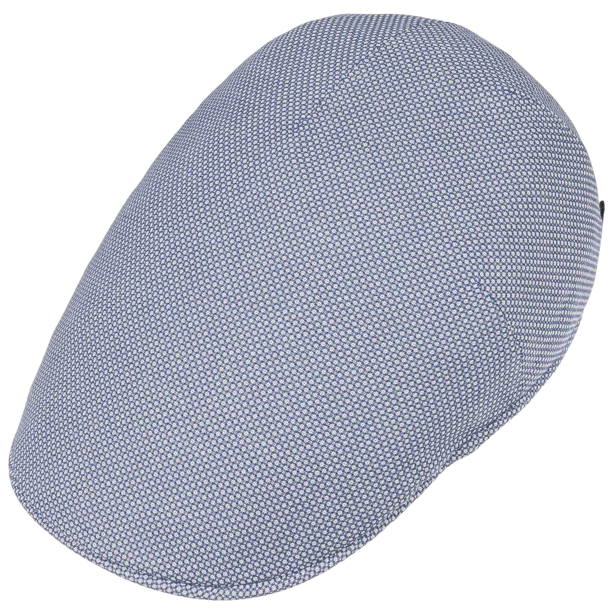 ... Circles Linen Cotton Flat Cap by Borsalino - light blue 1 ... bc5051204a74