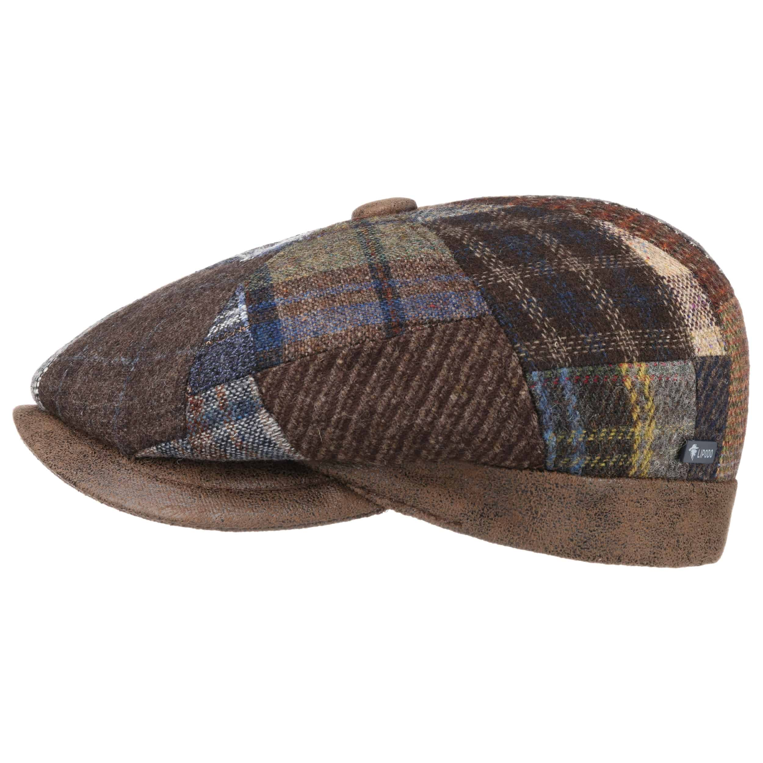 ... City Bic Patchwork Flat Cap by Lipodo - mixed colours 5 ce81a92334b