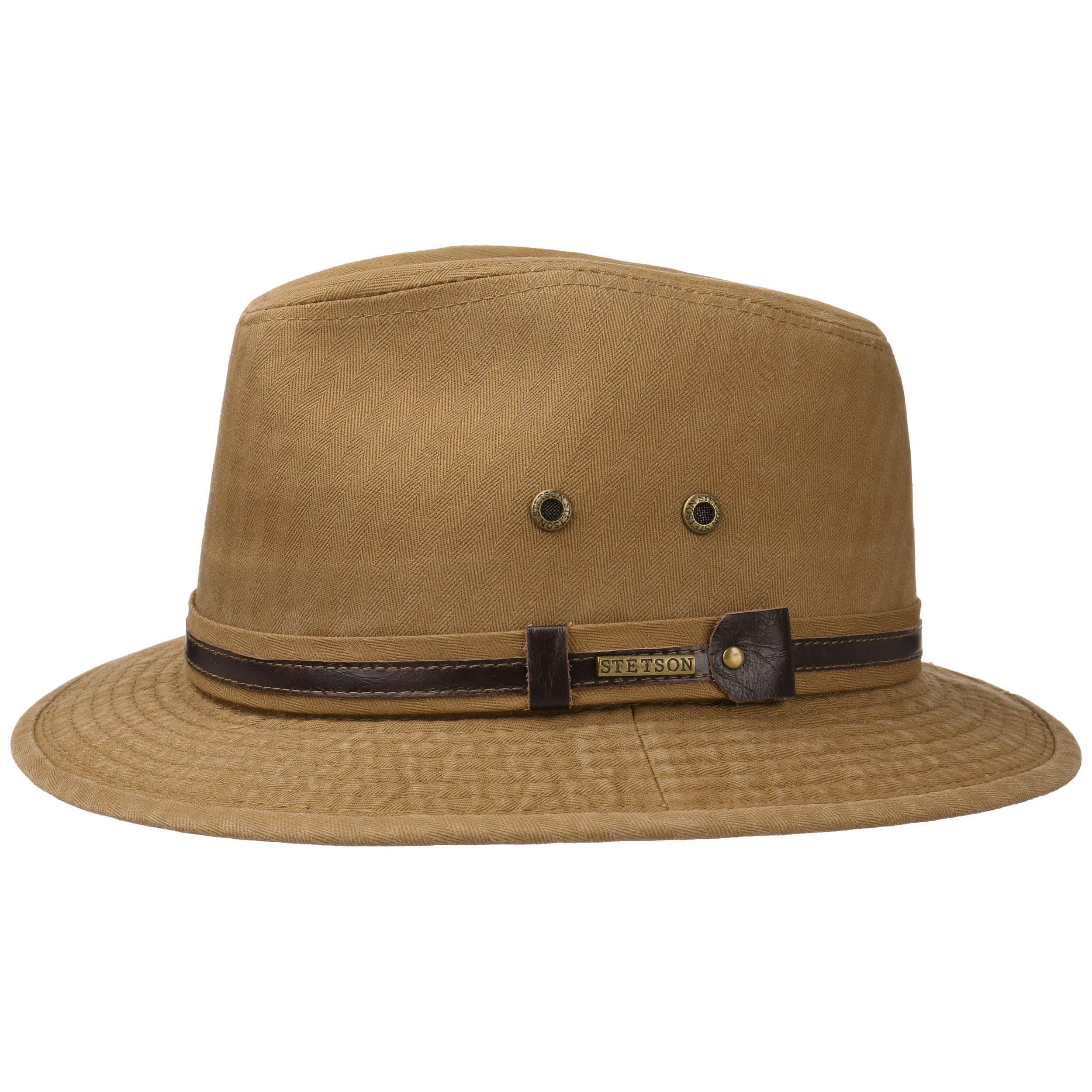 98de84566a00d ... Classic Cotton Traveller Hat by Stetson - light brown 5