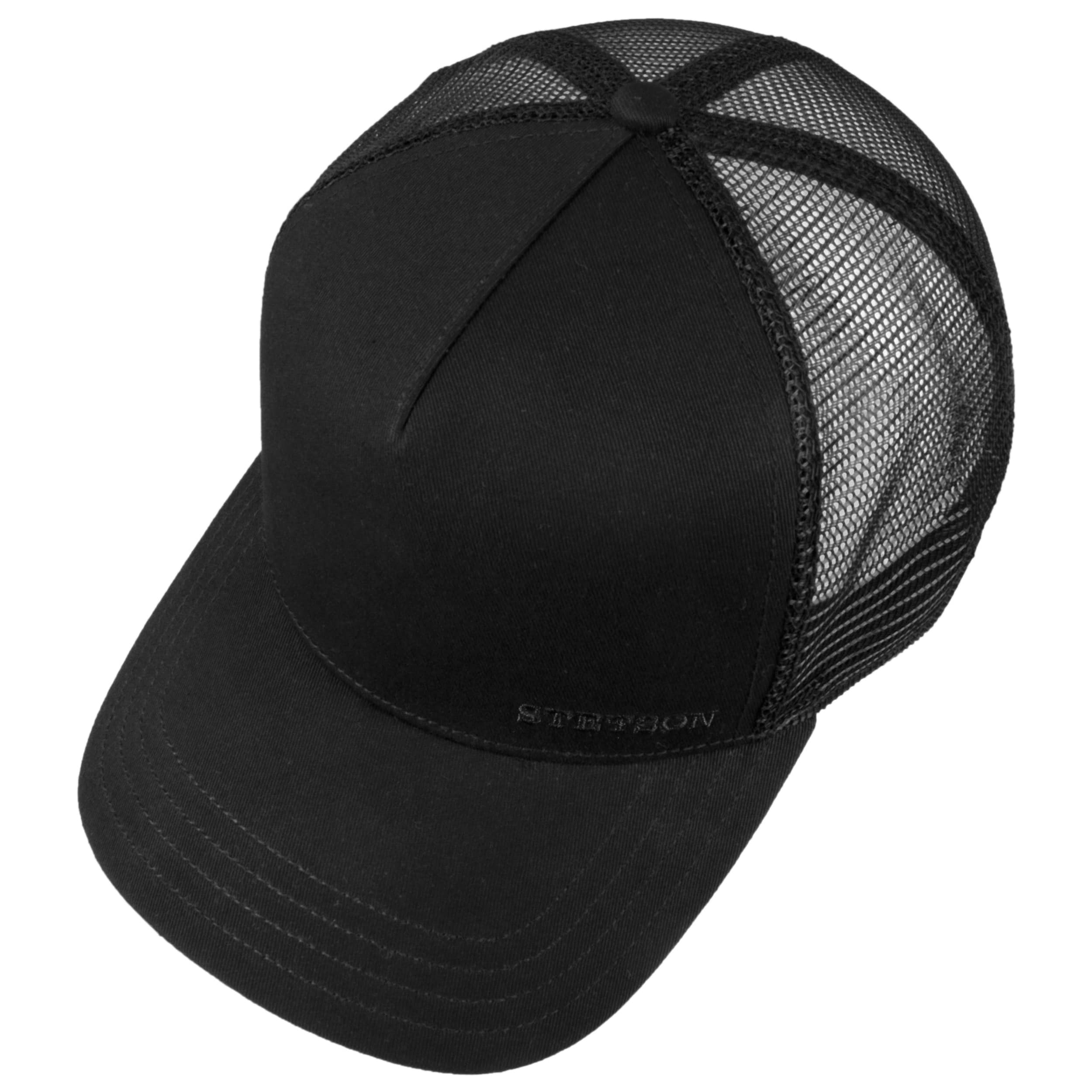 Classic Cotton Trucker Cap by Stetson - black 1 ... dee683d2827