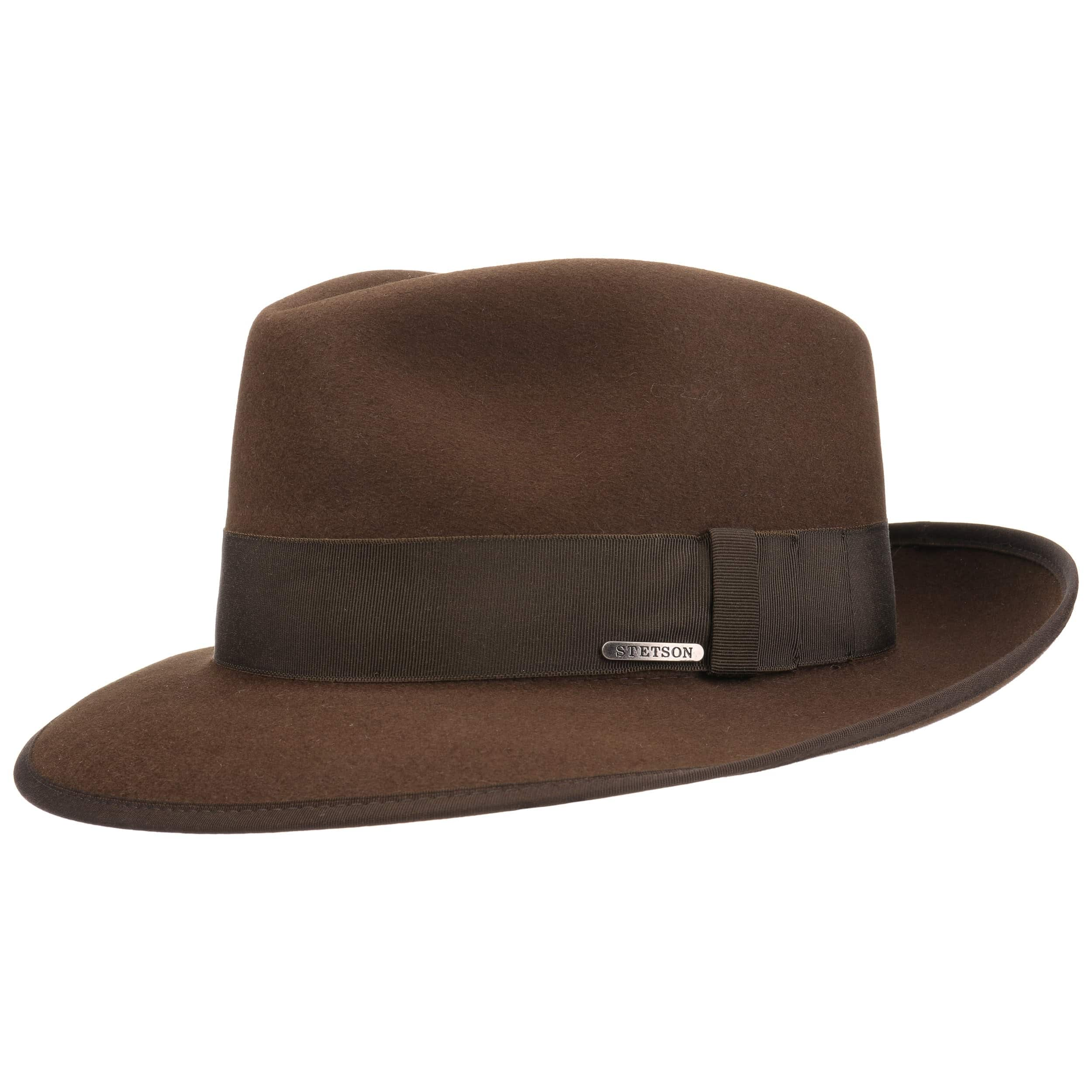 ... Classic Fur Felt Fedora Hat by Stetson - brown 7 62b75a29ea1