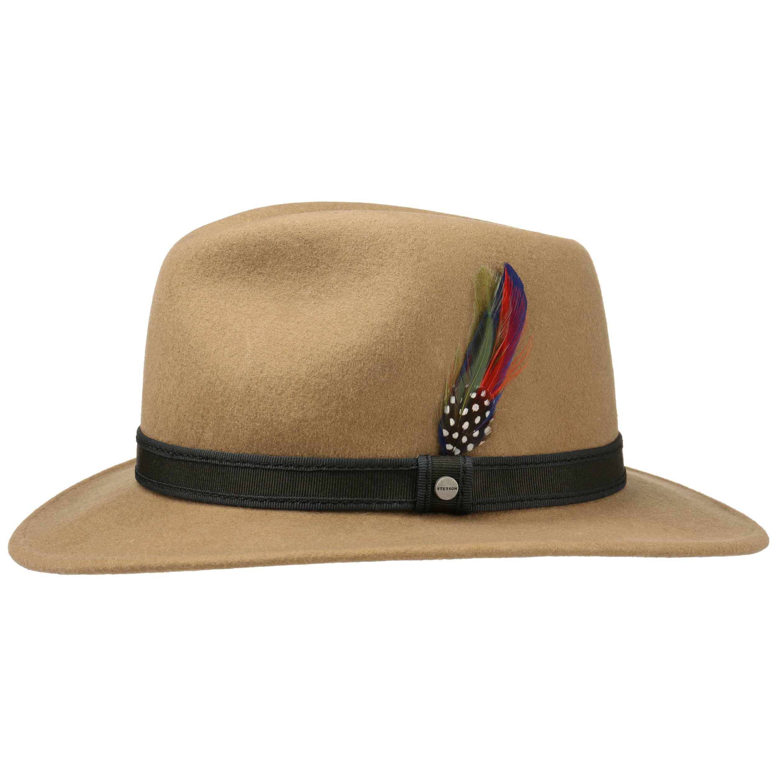 Buy Cheap Many Kinds Of Feather Trim Traveller Felt Hat by Stetson Felt hats Stetson Cheap Sale With Mastercard Outlet Official Site Cheap View Z8W3lETmw2