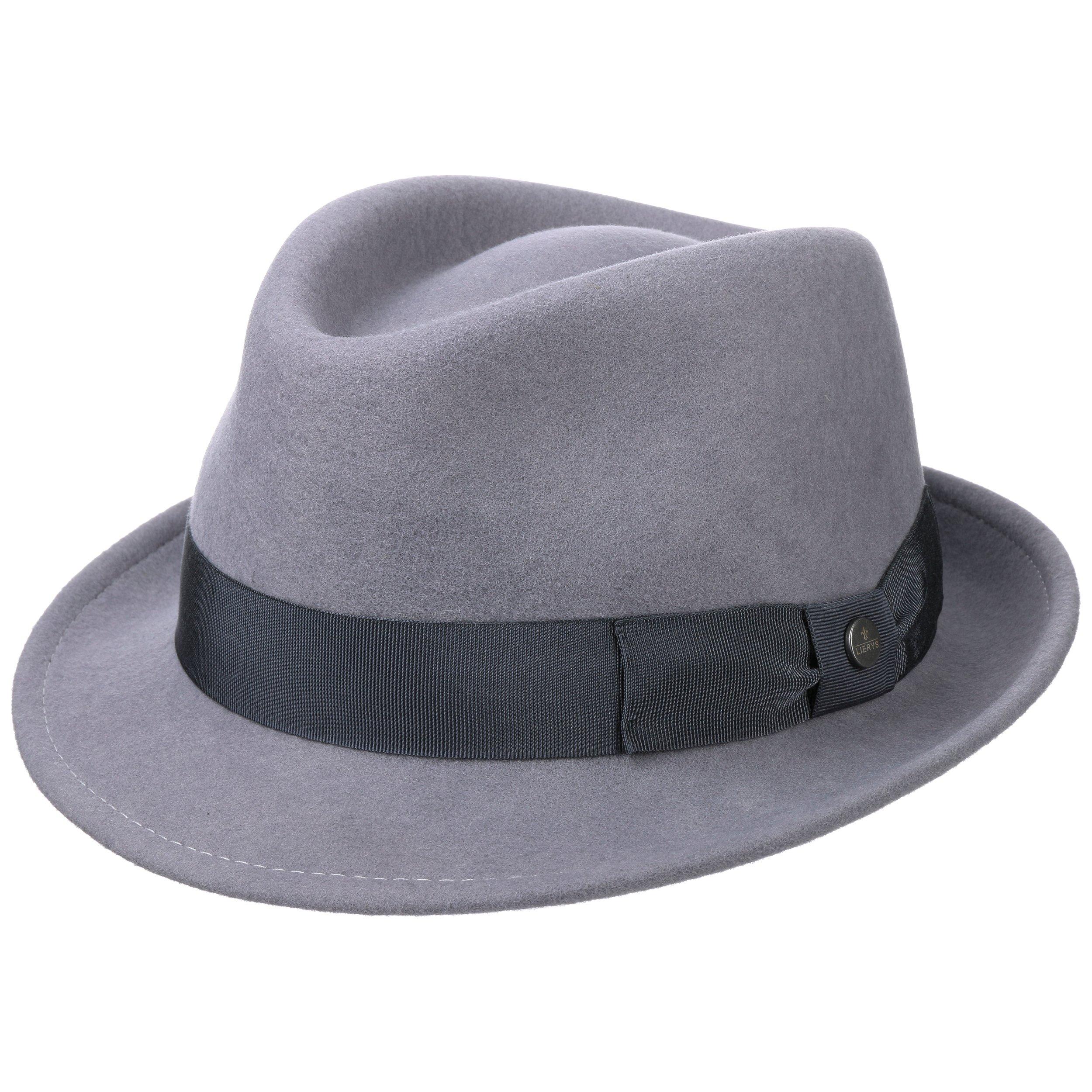 ... Classic Wool Trilby Hat by Lierys - blue 4 ... 28b8ba43852