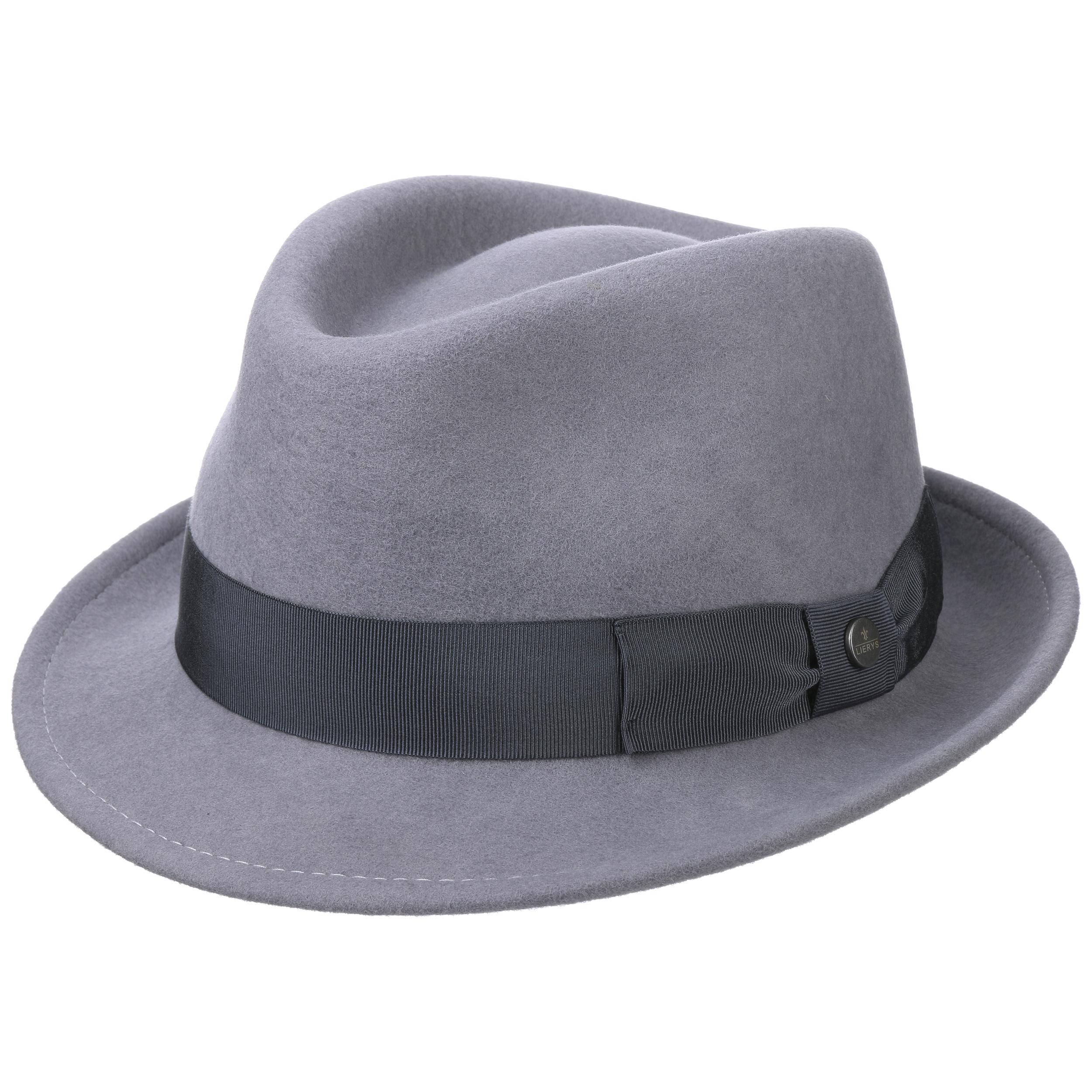 ... Classic Wool Trilby Hat by Lierys - blue 4 ... c0bc5af62ad