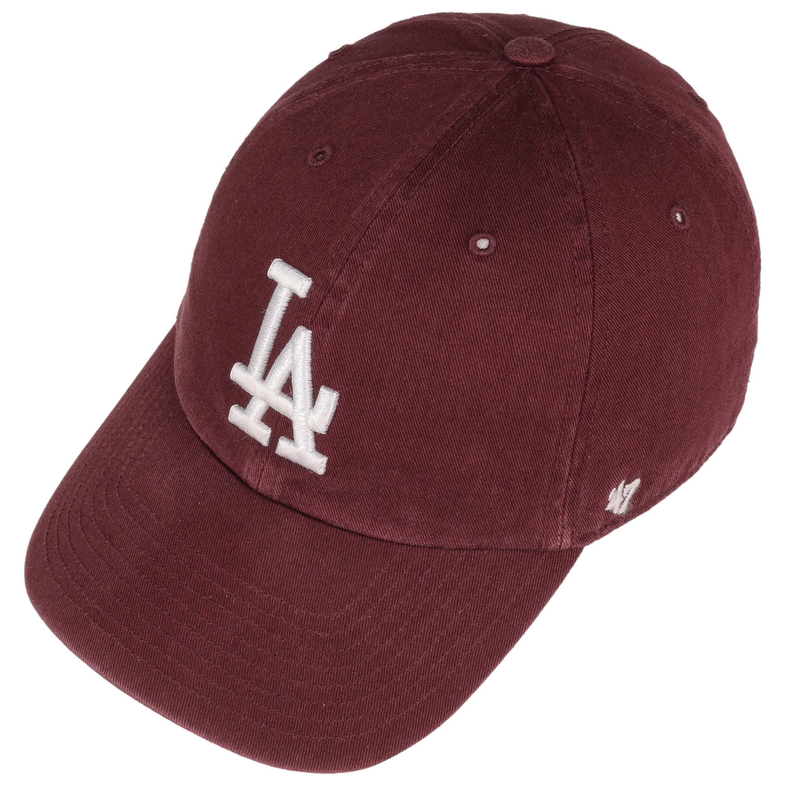 ... Clean Up LA Dodgers Cap by 47 Brand - bordeaux 1 ... 65ab87a4b0bd
