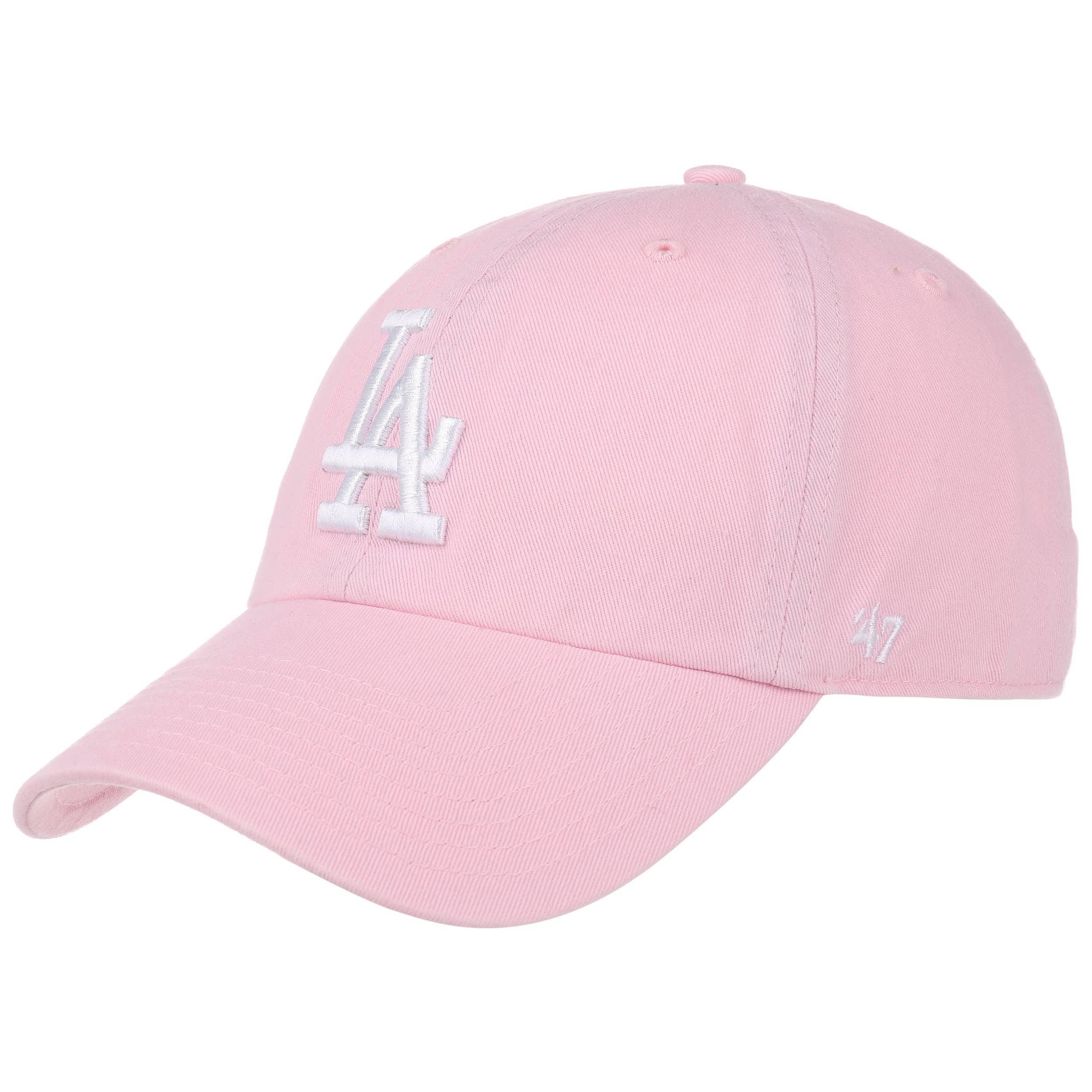 647d7362d91 ... Clean Up LA Dodgers Cap by 47 Brand - pink 6 ...