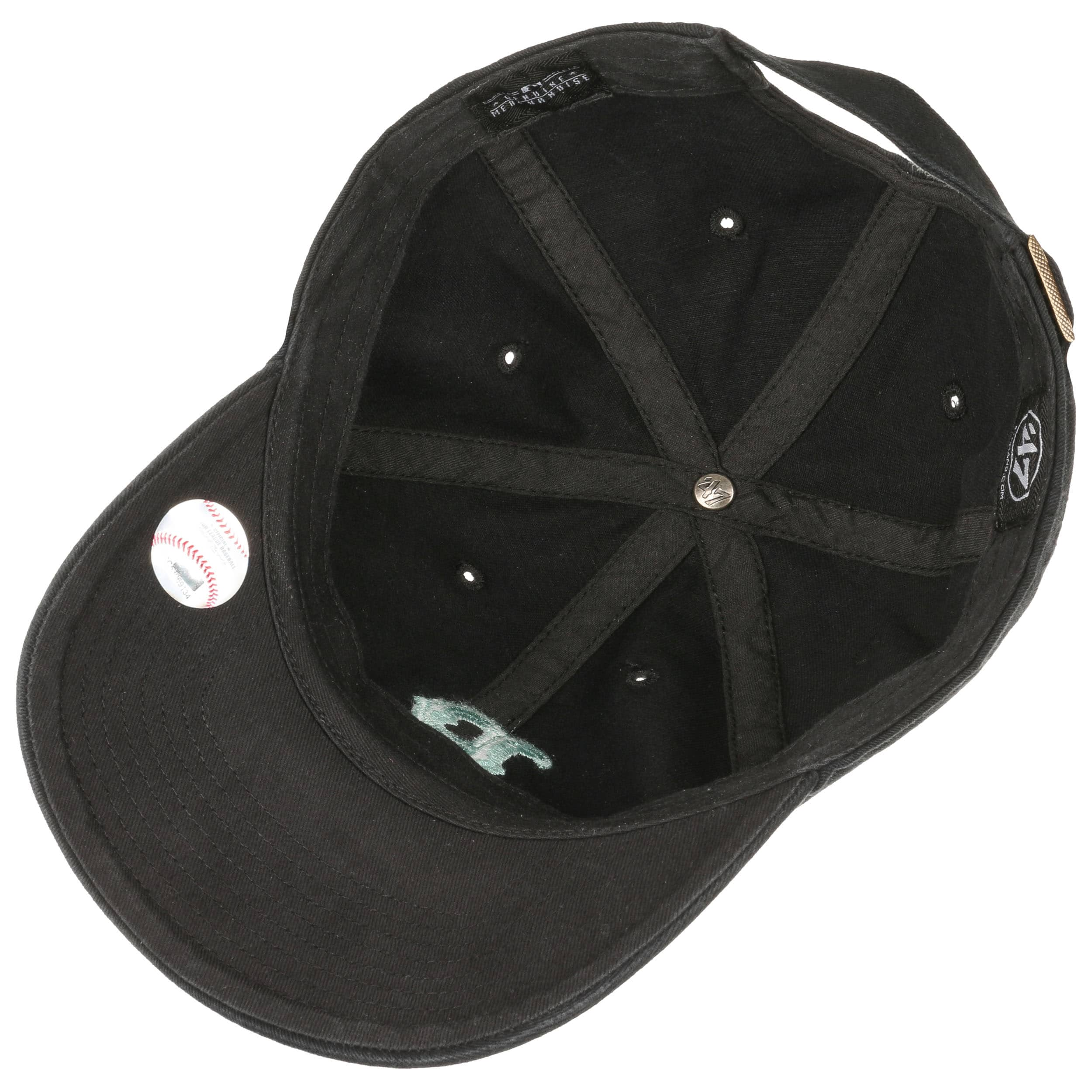 cd8962c5ea587 ... Clean Up Twotone Red Sox Cap by 47 Brand - black 2 ...