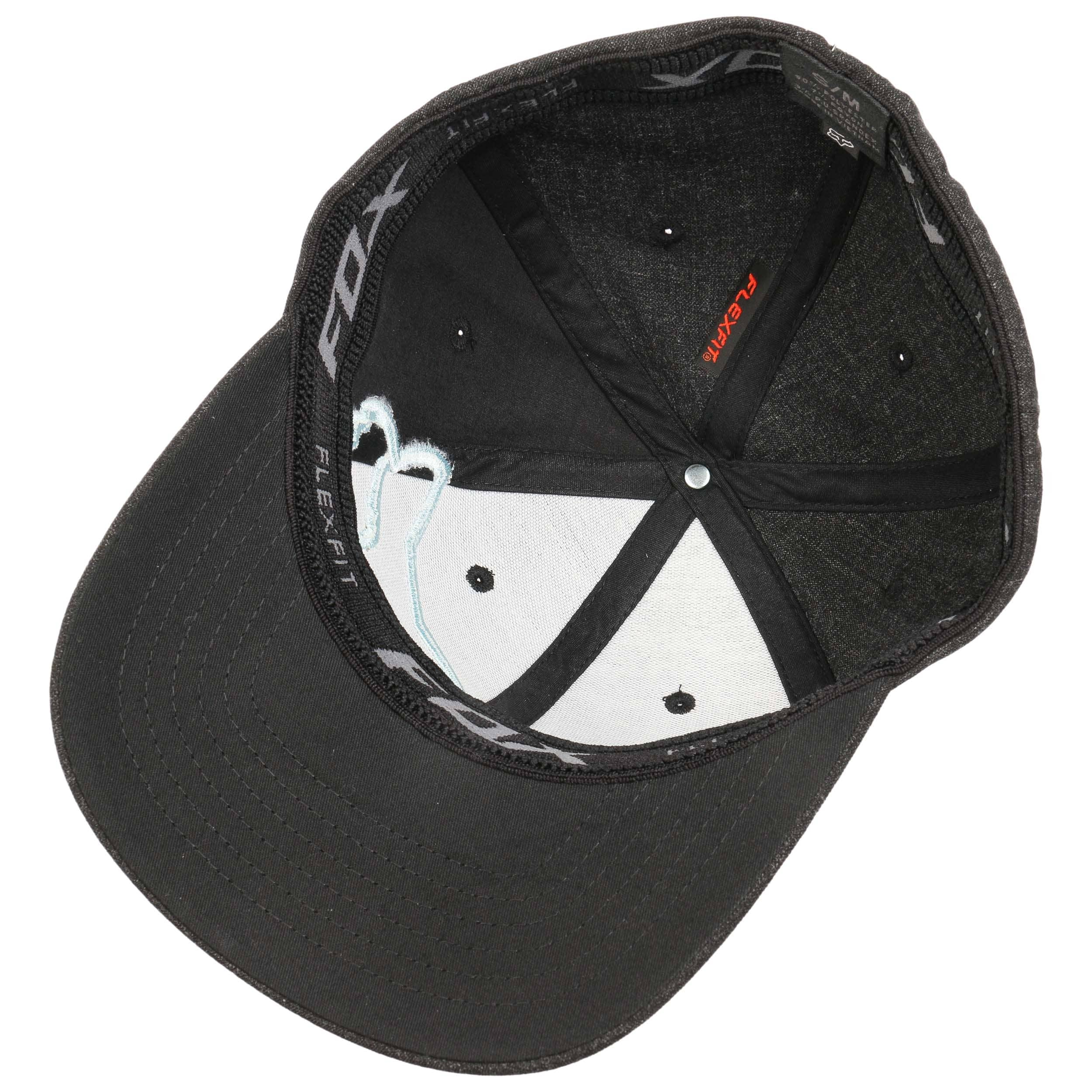 ... Clouded Flexfit Cap by FOX - black-white 2 ... cdc9b38d9f4