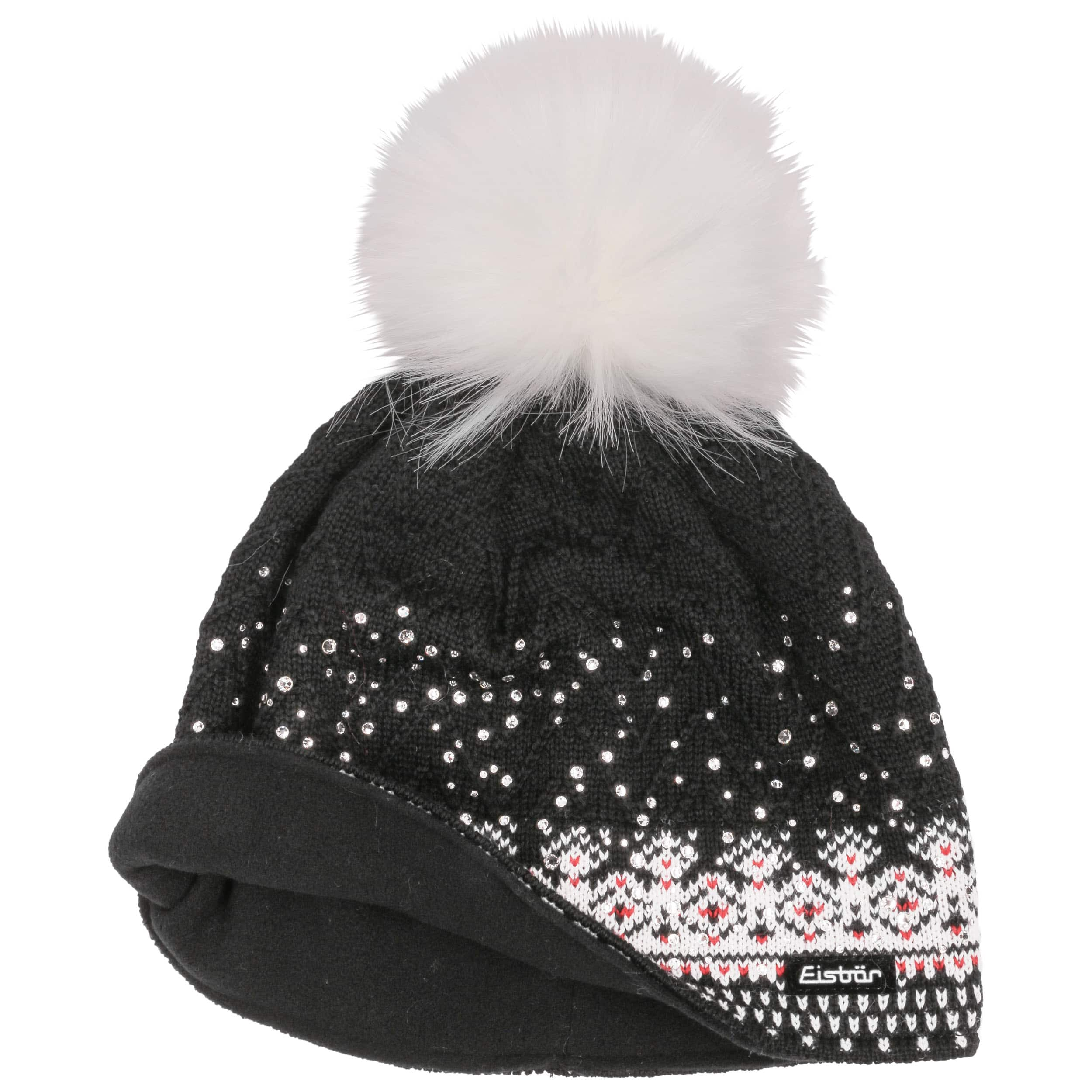 2d903704efc Connor Pompom Hat by Eisbär - black 1 ...