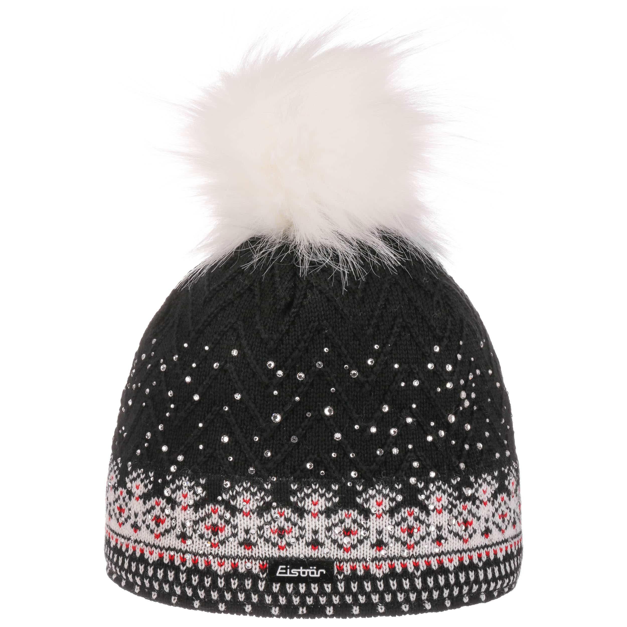d8976da723e ... Connor Pompom Hat by Eisbär - black 4