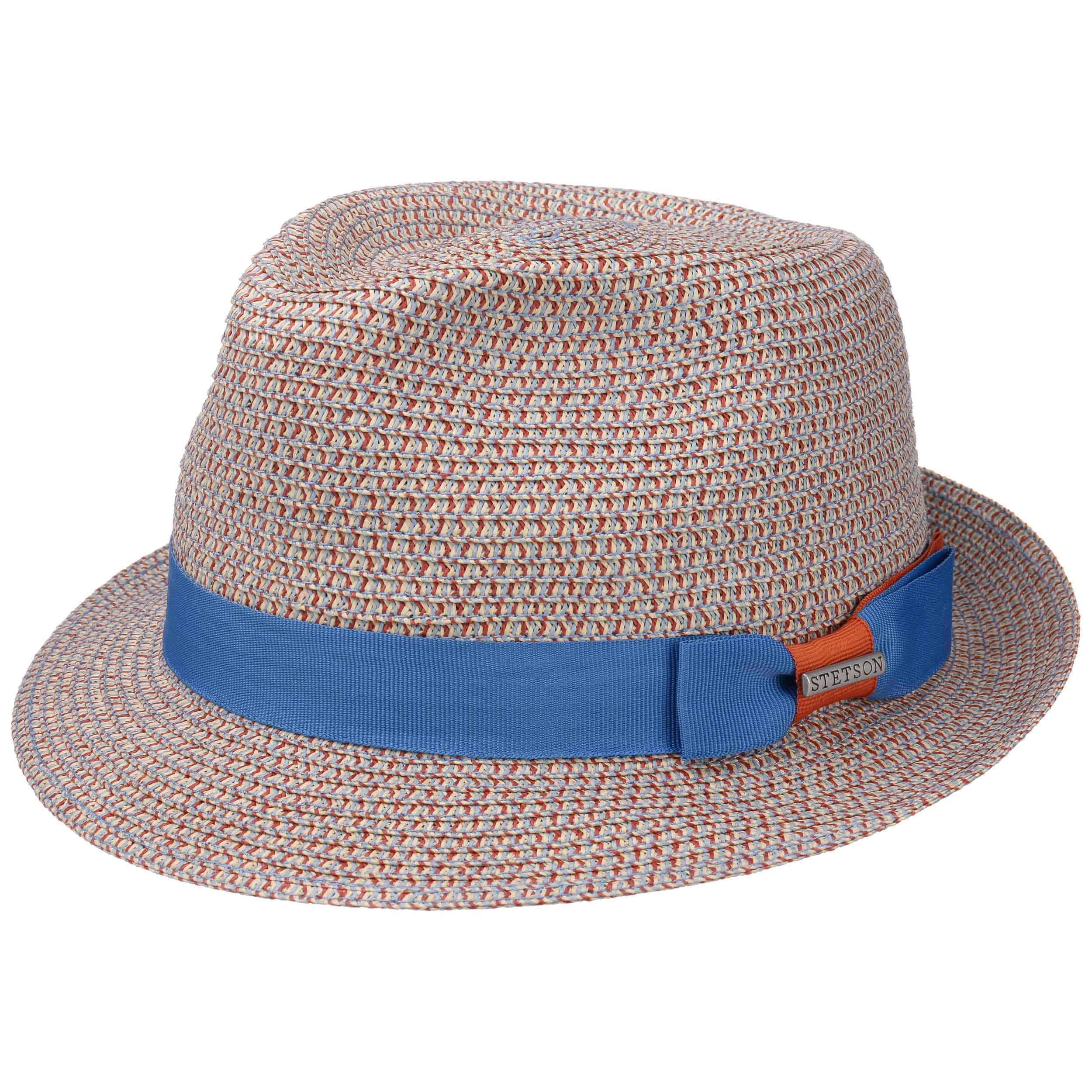 83232b6a2c9 ... Contrast Colour Toyo Trilby Hat by Stetson - blue-green 4 ...