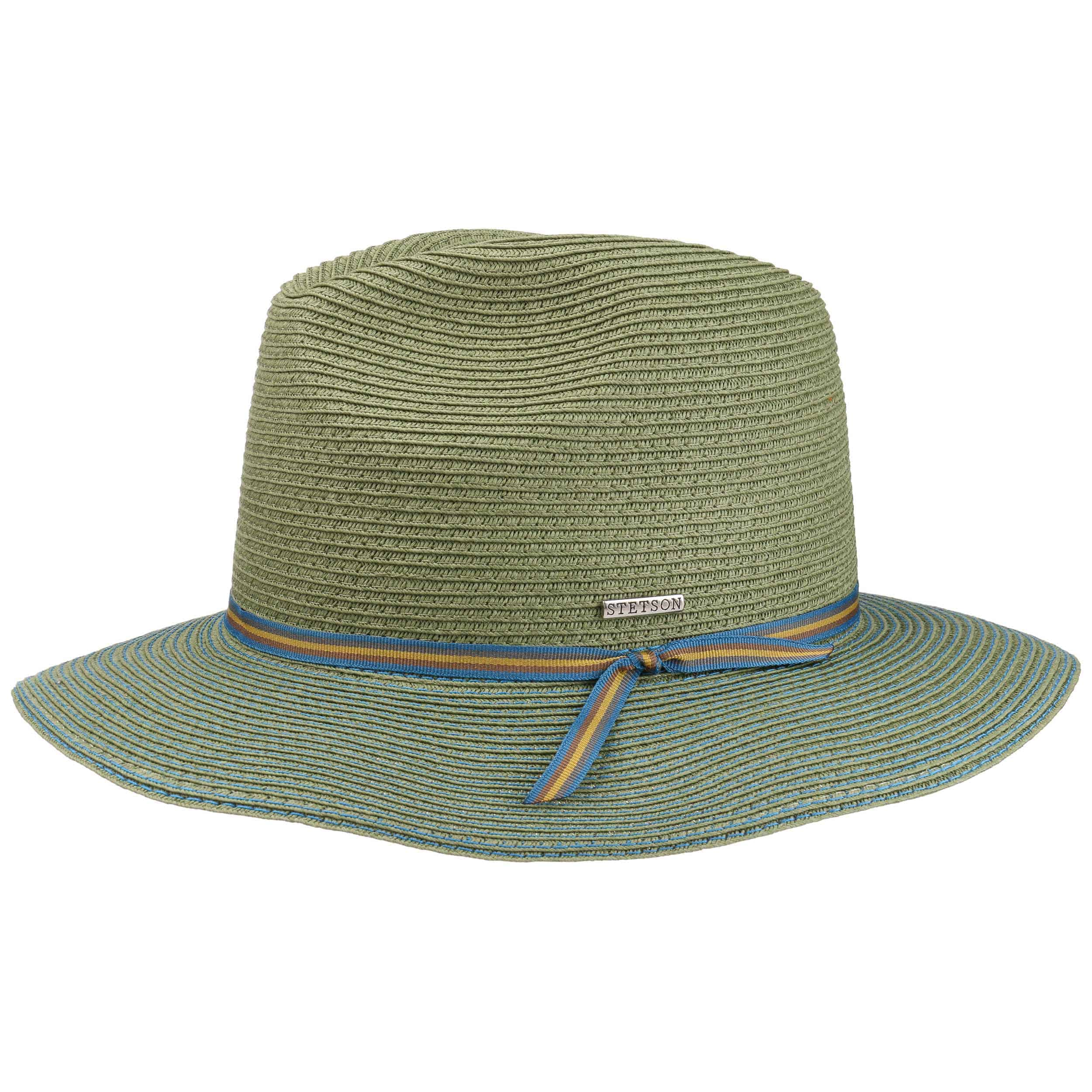 f48ed8c1681 ... Contrast Stitch Toyo Floppy Hat by Stetson - green 1 ...