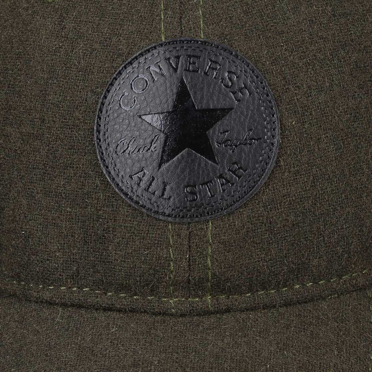 4c41cb60934 ... Core Wool Baseball Cap by Converse - olive 5 ...