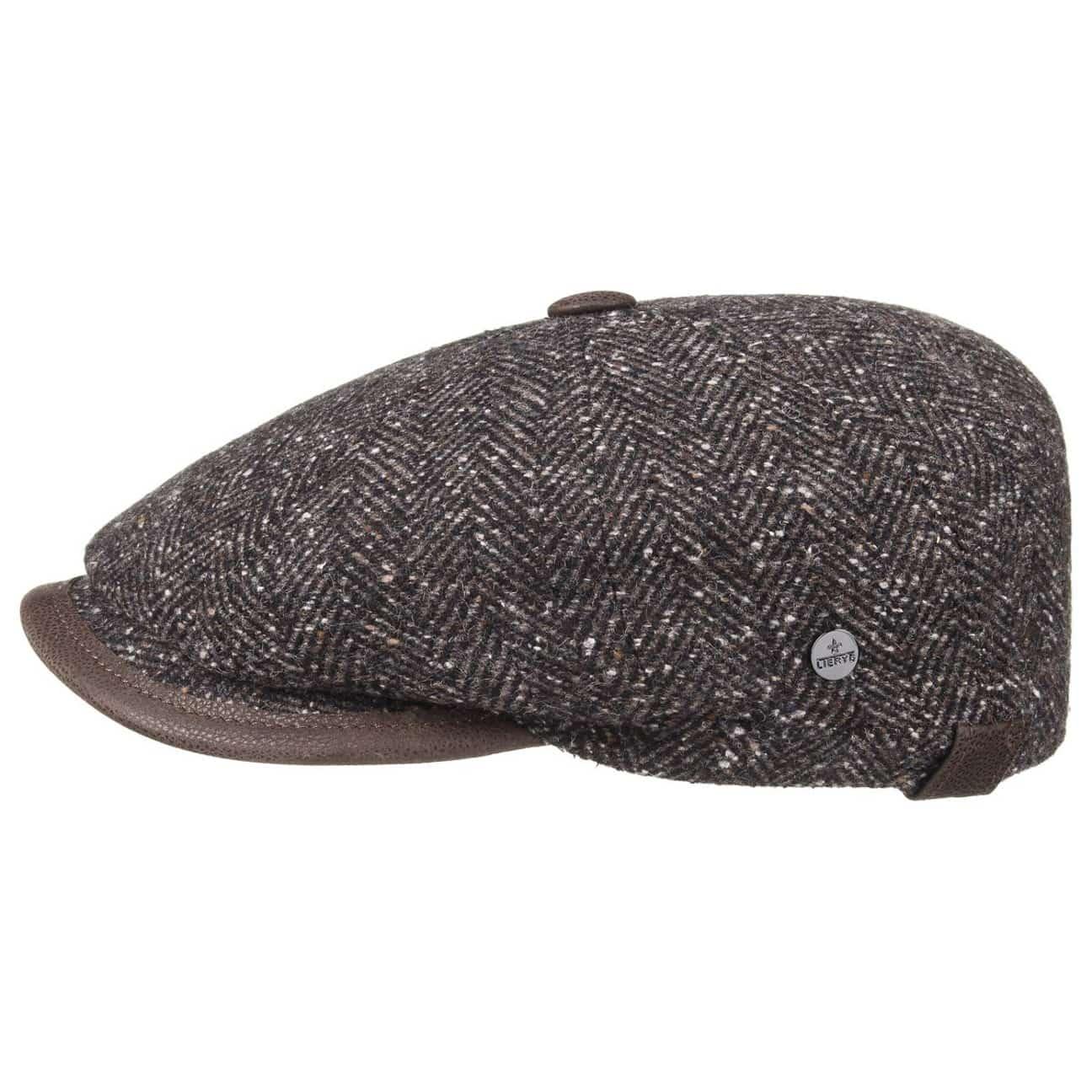 ... Cortino Herringbone Flat Cap by Lierys - brown 4 ... 6c9087a418d