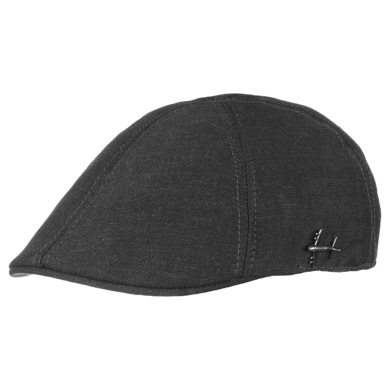 e21d1e608fabd ... Cotton Texas Linen Flat Cap by Stetson - black 5