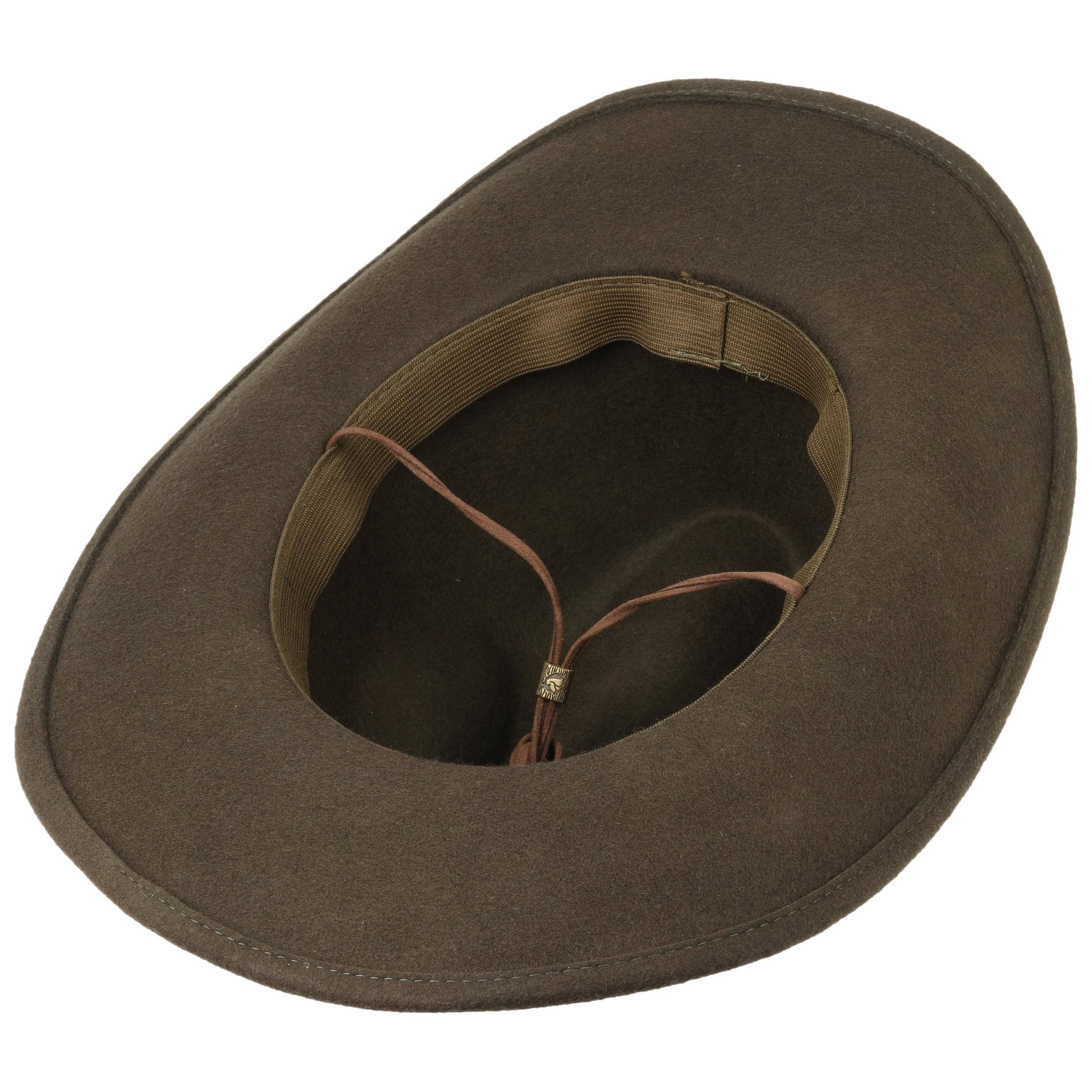 ... Cowboy Hat with Chin Strap by Lipodo - olive 2 ... a1c9a8224ea