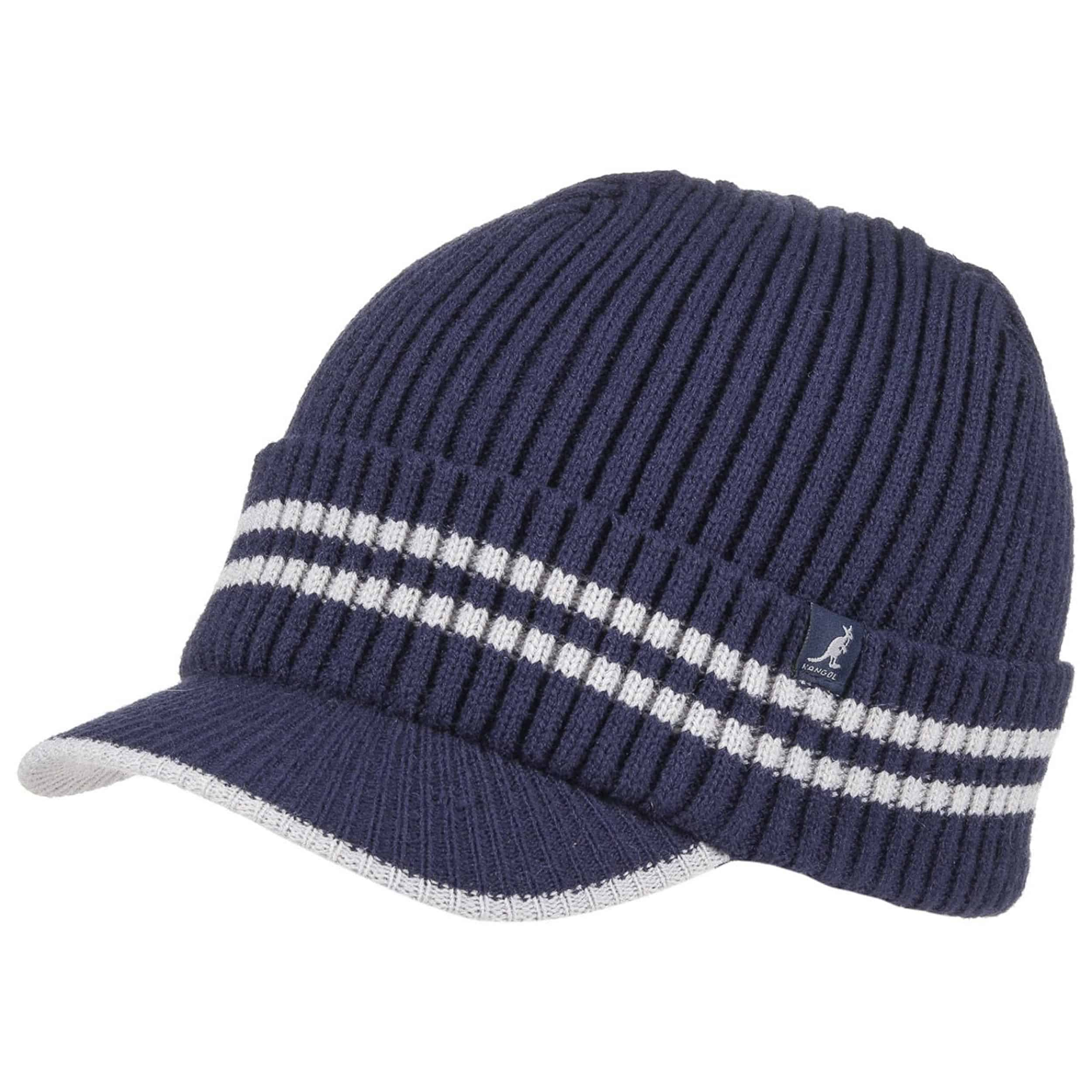 c3f838452f1 ... Cuff Pull On Two Colour Knit Hat by Kangol - blue 1 ...