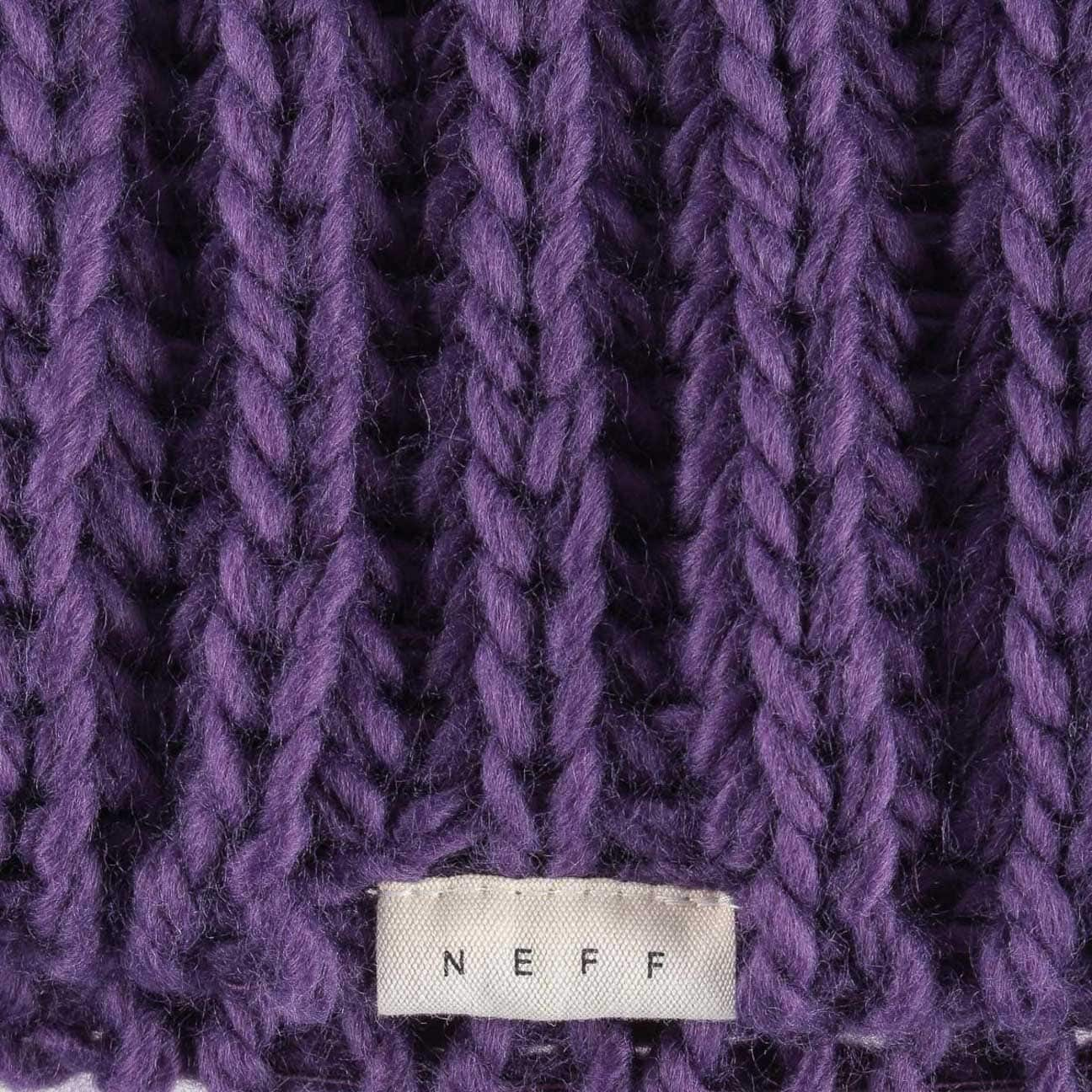 82d35f3319a ... Curse Beanie with Pompom by neff - purple 3 ...