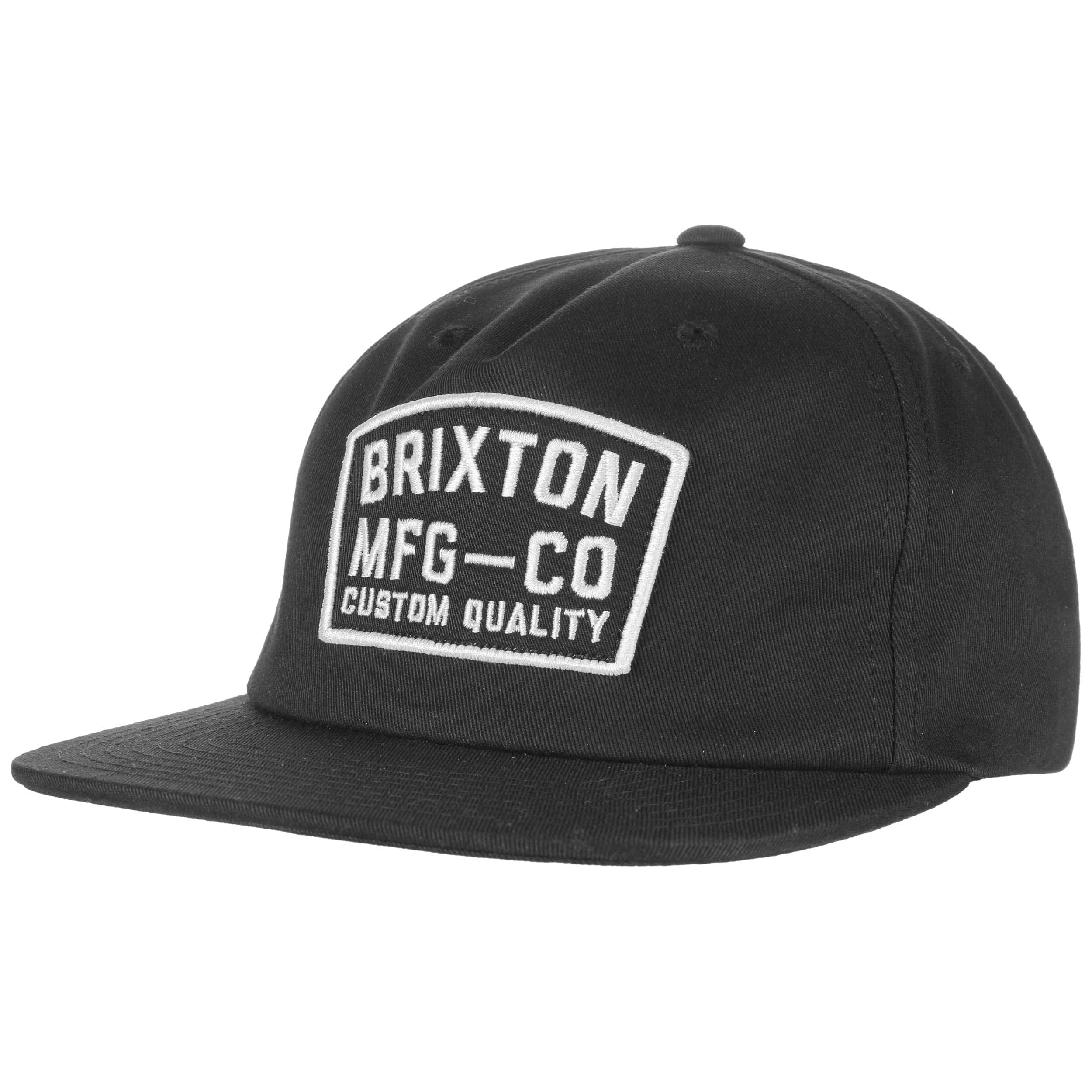 8598b0269198e ... new style custom quality snapback cap by brixton black 5 73226 51ed7 ...