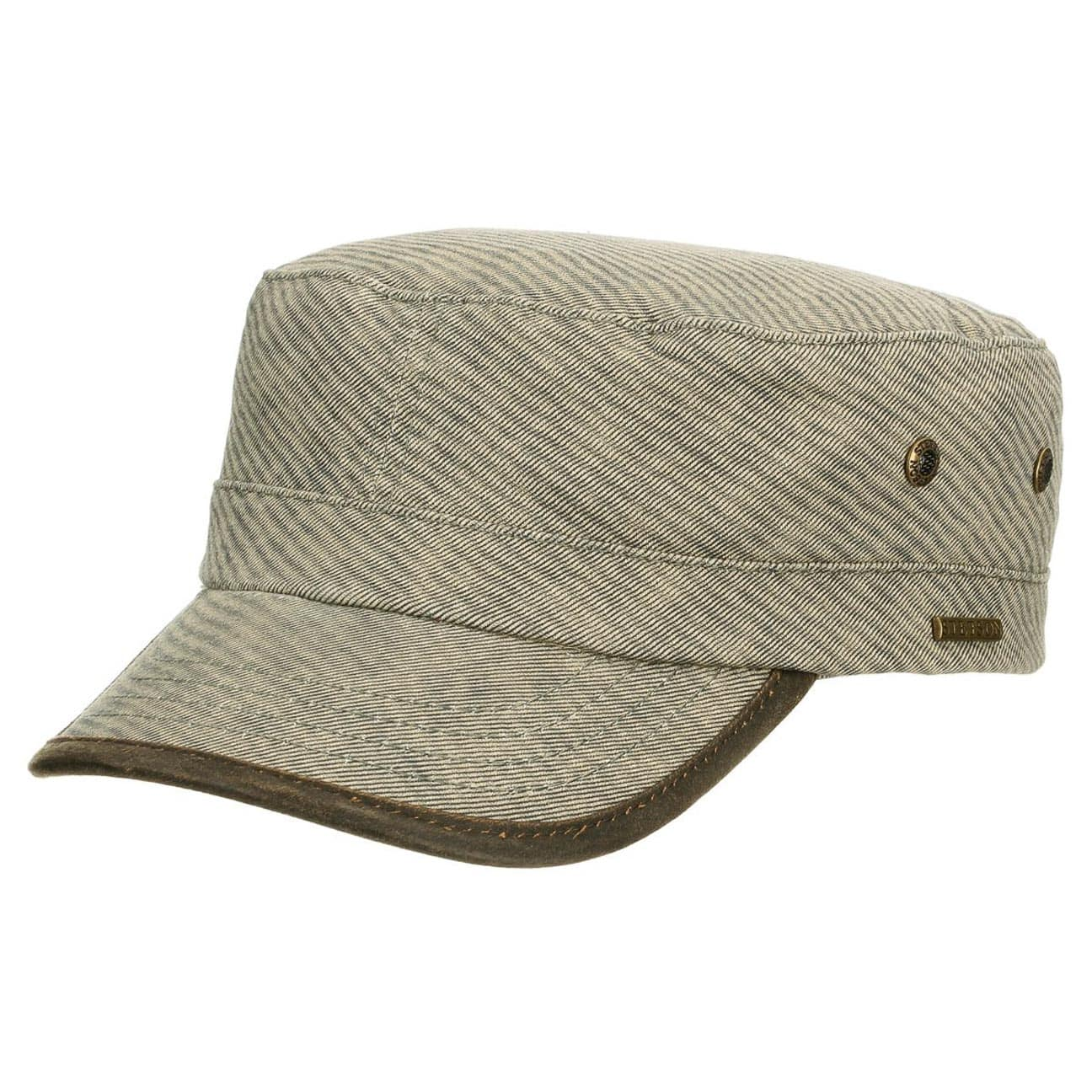 Datto Stripes Army Cap by Stetson - olive 1 ... ba02f18e9b