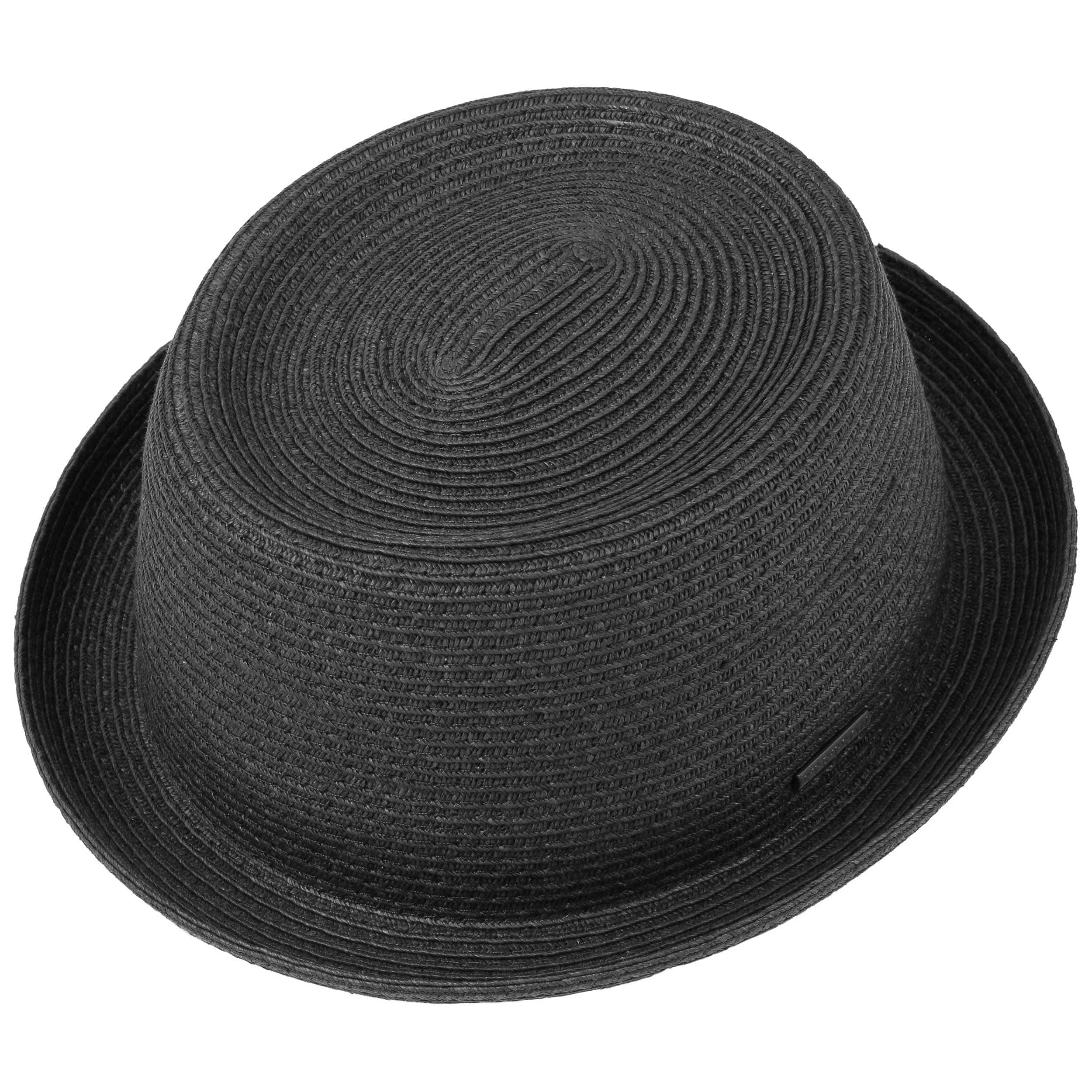 5784dbc6243ef Dawson Black Pork Pie Straw Hat by Stetson - black 1 ...