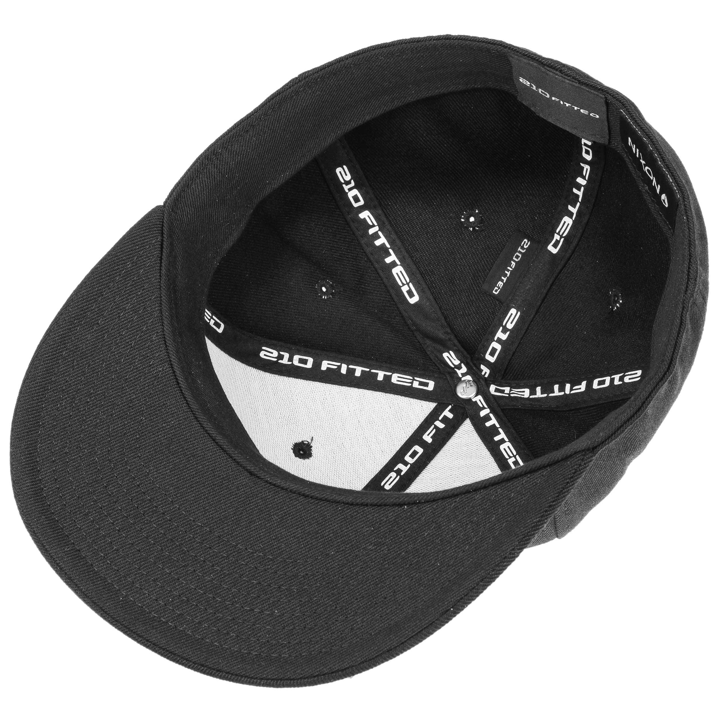 ... Deep Down Flexfit Cap by Nixon - black-white 1 ... 844f78e4c5e9