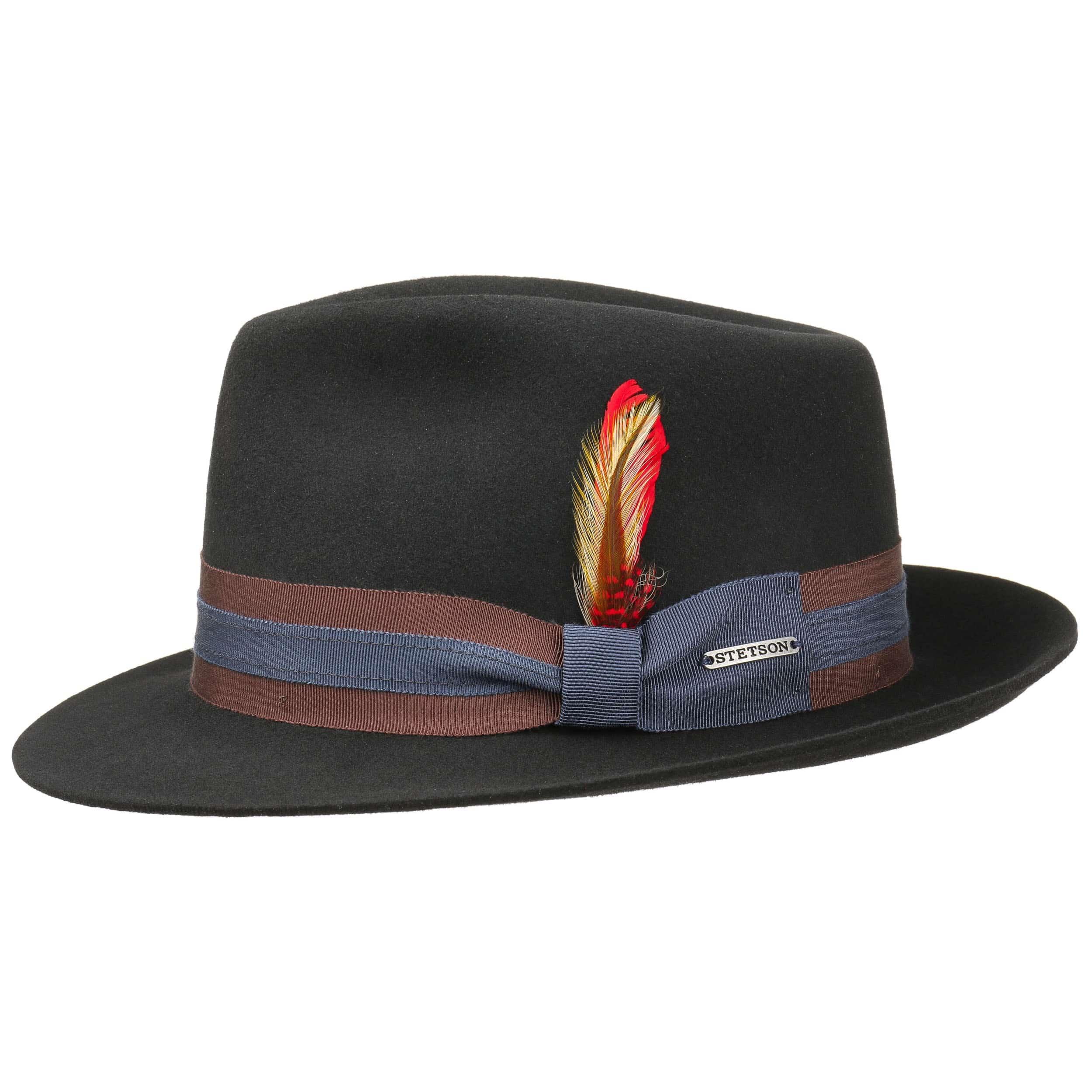 ... Delacroix VitaFelt Fedora Hat by Stetson - black 7 ... a57145f56c2