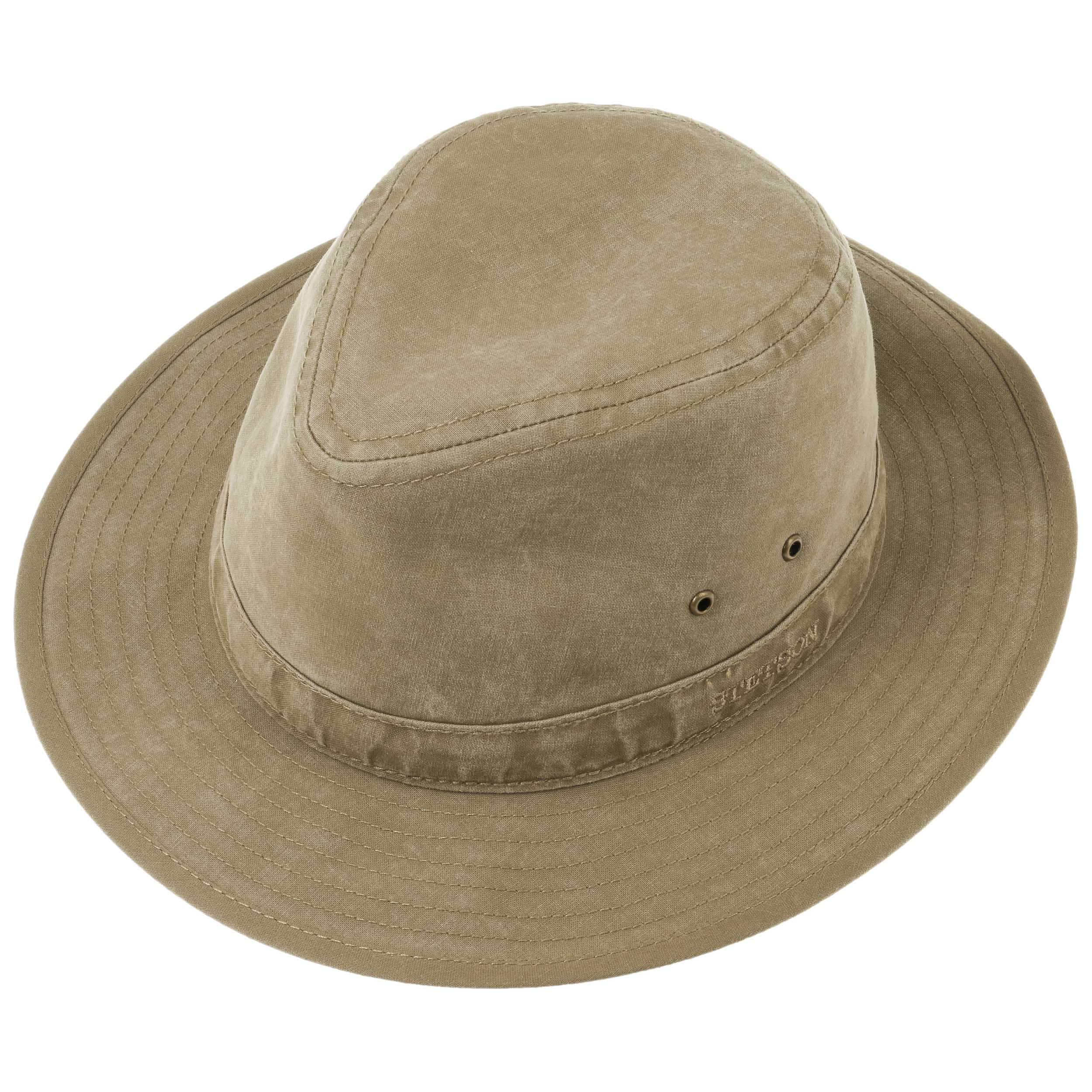 55a0e3e170f Delave Organic Cotton Traveller Hat by Stetson - khaki 1 ...