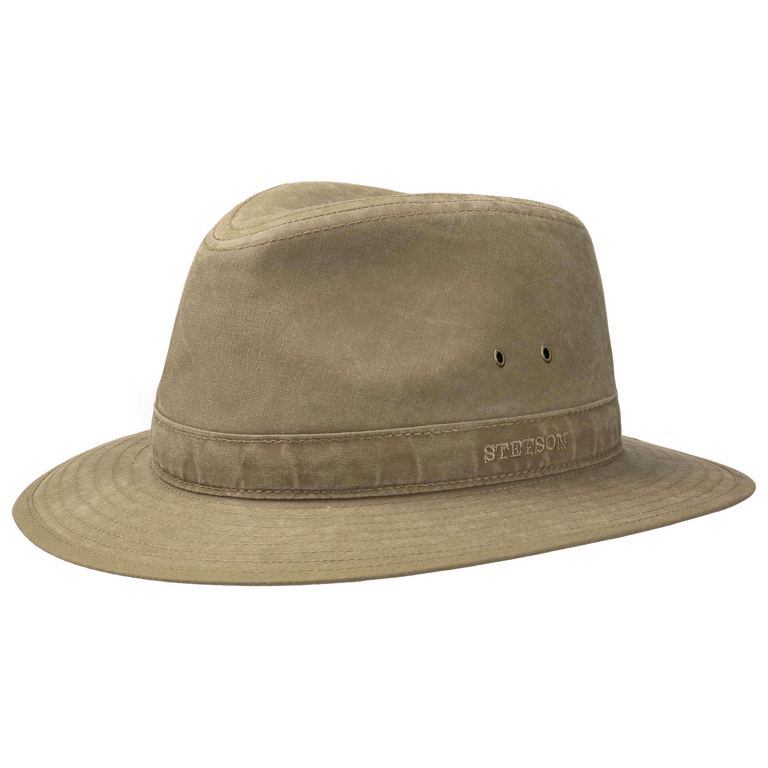 6dd02fe2389de8 ... Delave Organic Cotton Traveller Hat by Stetson - khaki 4 ...